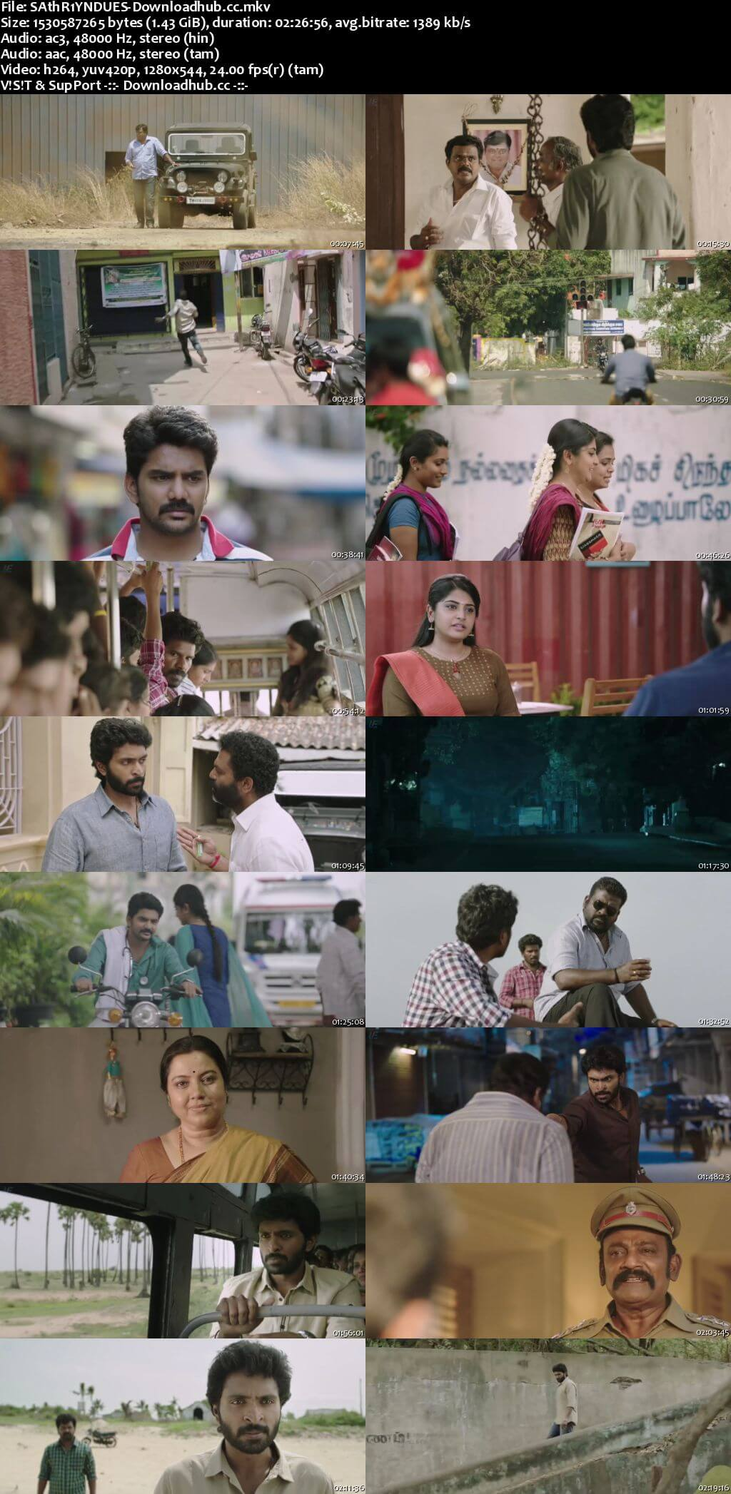 Sathriyan 2017 UNCUT Hindi Dual Audio 720p HDRip Free Download