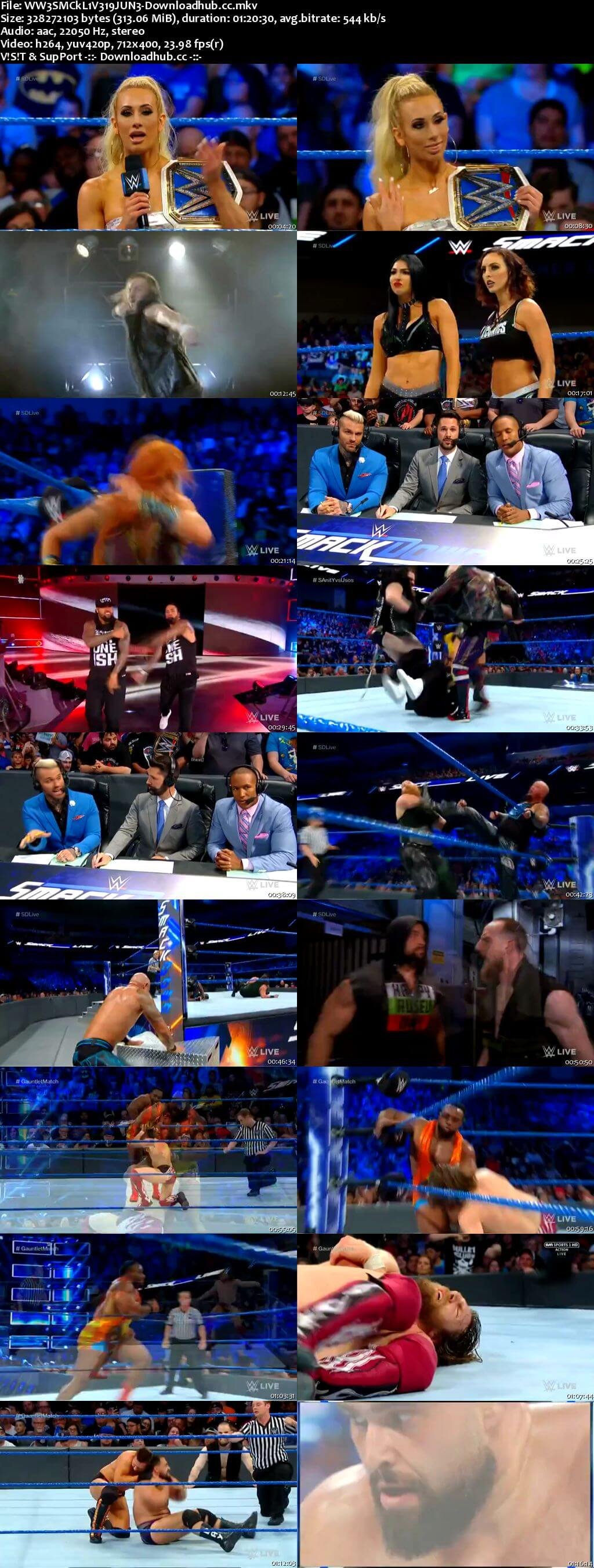 WWE Smackdown Live 19 June 2018 480p HDTV Download
