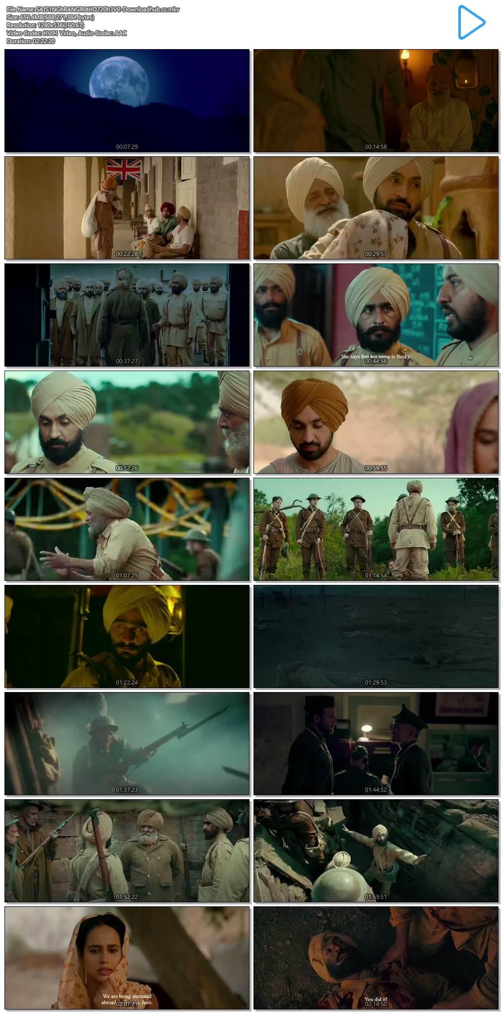 Sajjan Singh Rangroot 2018 Punjabi 720p HEVC HDRip HC ESubs