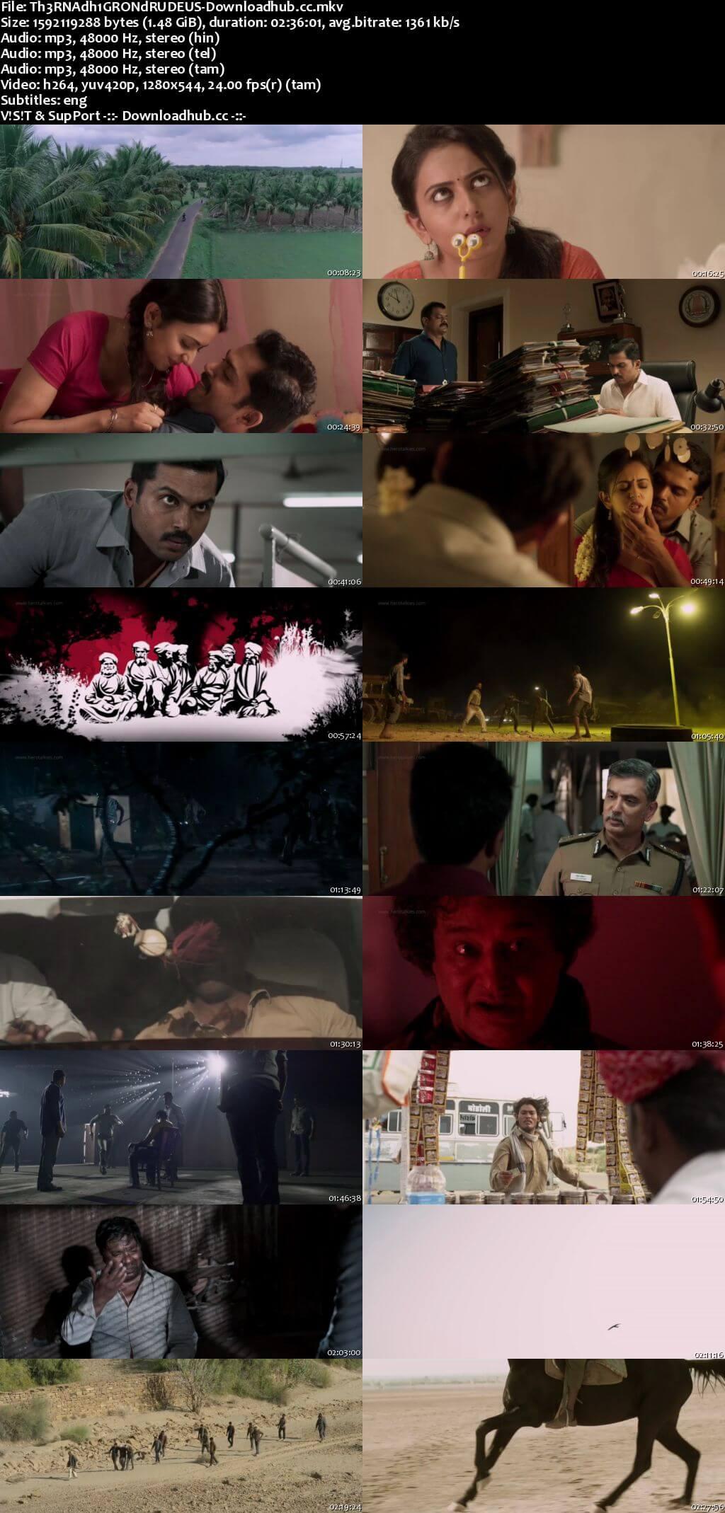 Theeran Adhigaaram Ondru 2017 UNCUT Hindi Dual Audio 720p HDRip Free Download