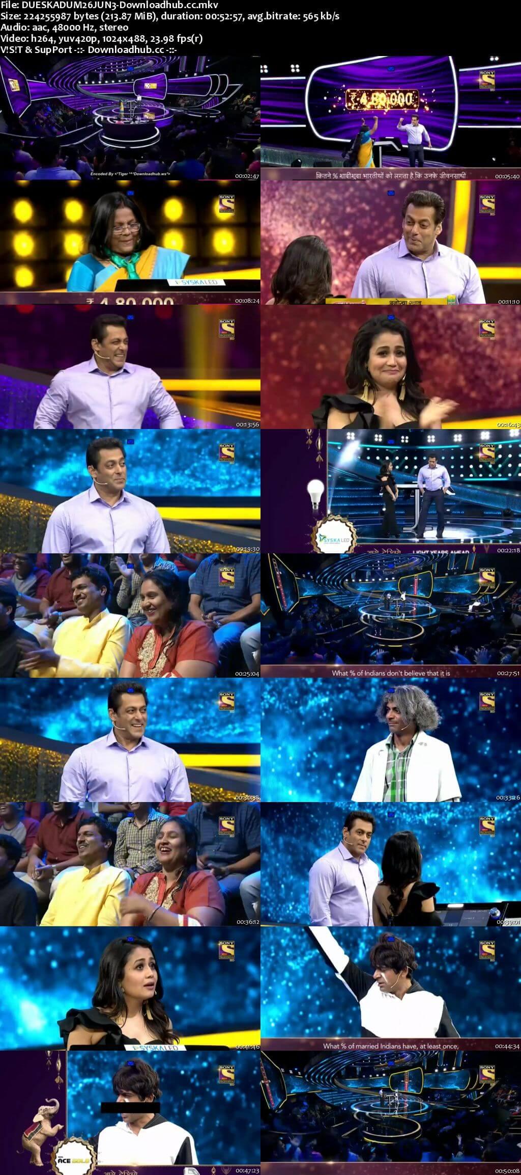 Dus Ka Dum 26 June 2018 Episode 08 HDTV 480p