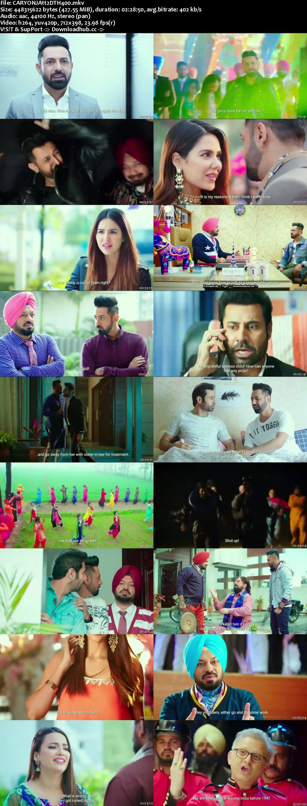 Carry on Jatta 2 2018 Punjabi 400MB DTHRip 480p HC ESubs