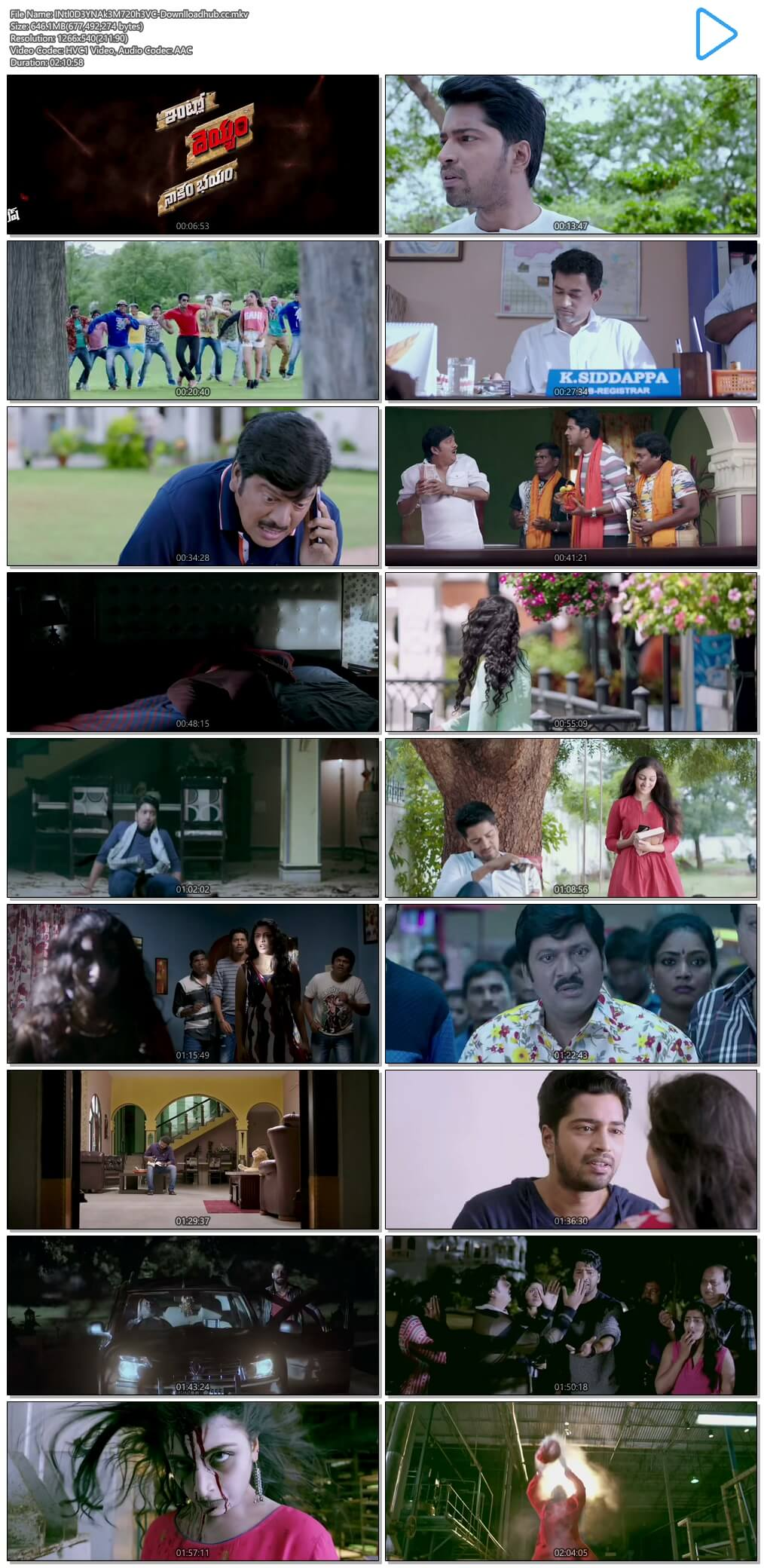 Intlo Dayyam Nakemi Bhayam 2016 UNCUT Hindi Dual Audio 720p HEVC HDRip Free Download