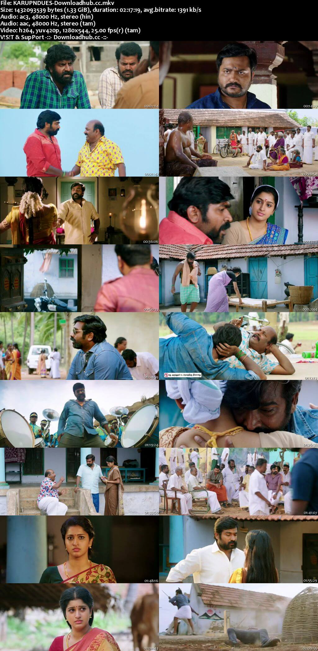 Karuppan 2017 Dual Audio 720p UNCUT HDRip [Hindi - Tamil]
