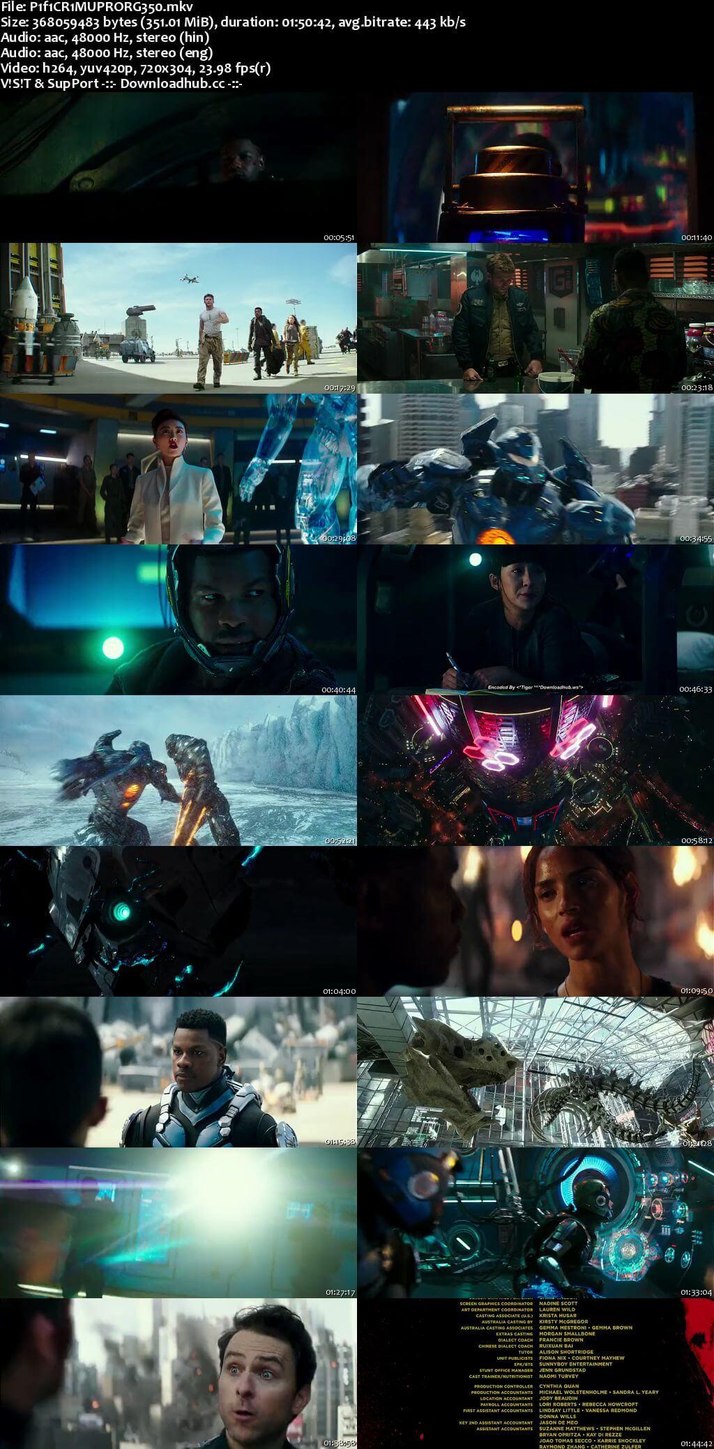 Pacific Rim Uprising 2018 Hindi ORG Dual Audio 350MB BluRay 480p ESubs