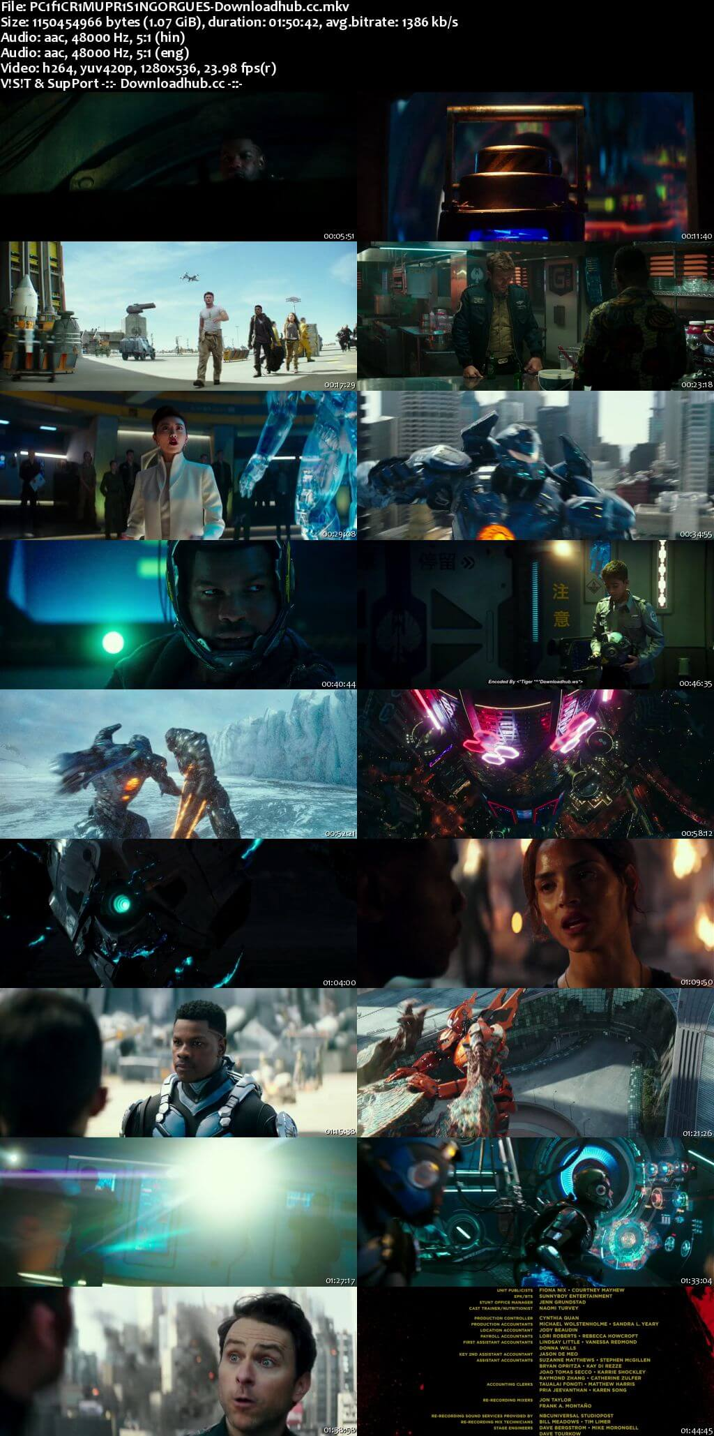 Pacific Rim Uprising 2018 Dual Audio 720p BluRay ORG [Hindi - English] ESubs