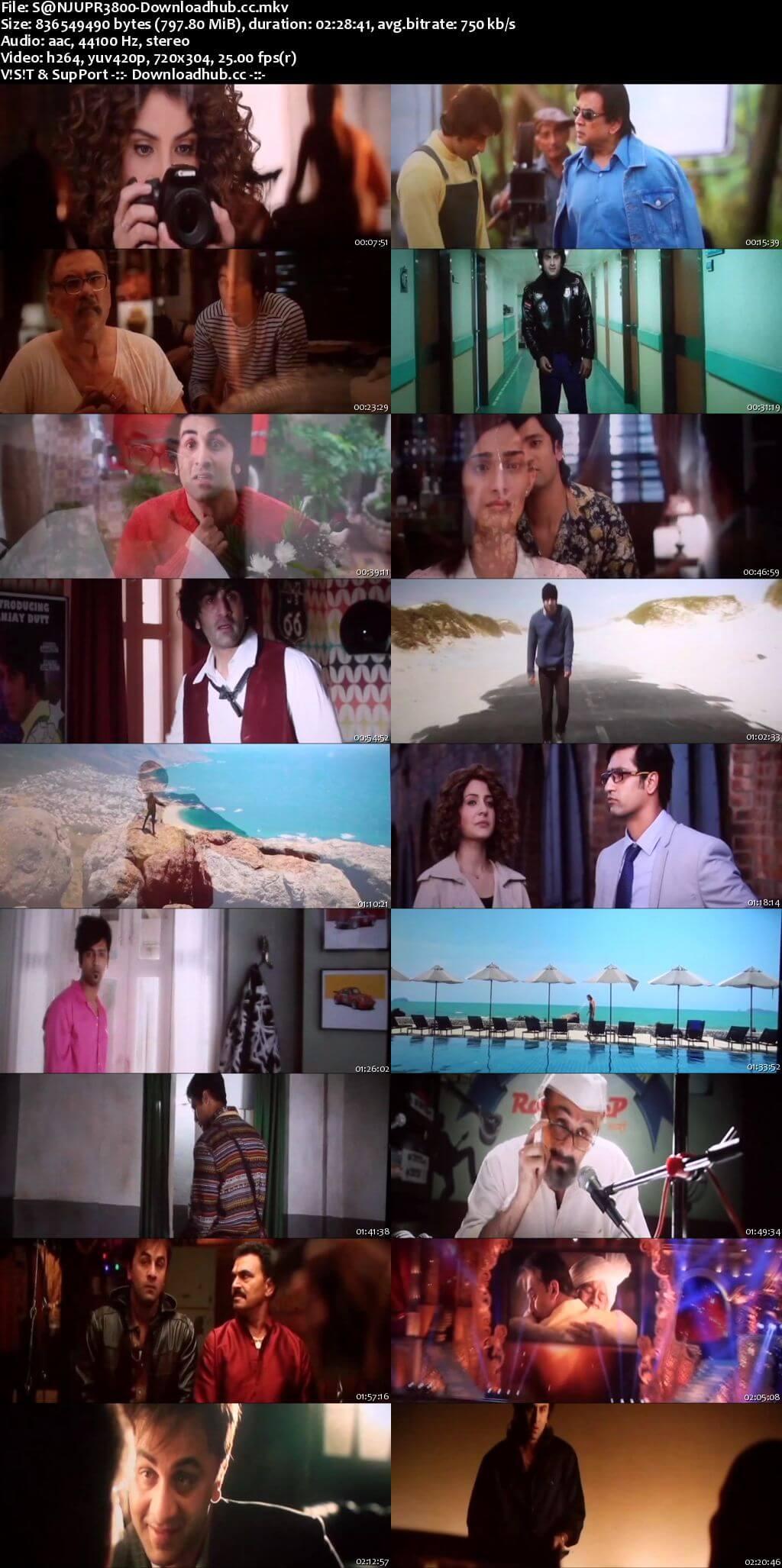 Sanju 2018 Hindi 800MB Pre-DVDRip x264