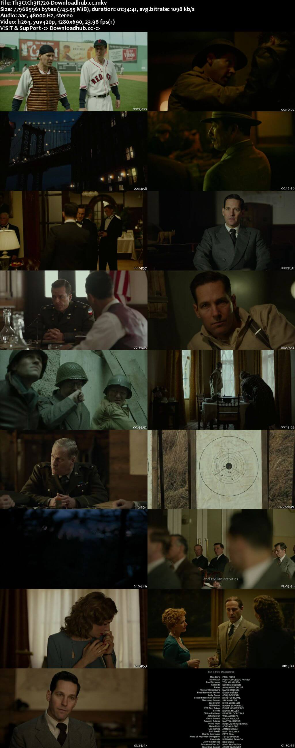 The Catcher Was a Spy 2018 English 720p Web-DL 750MB ESubs