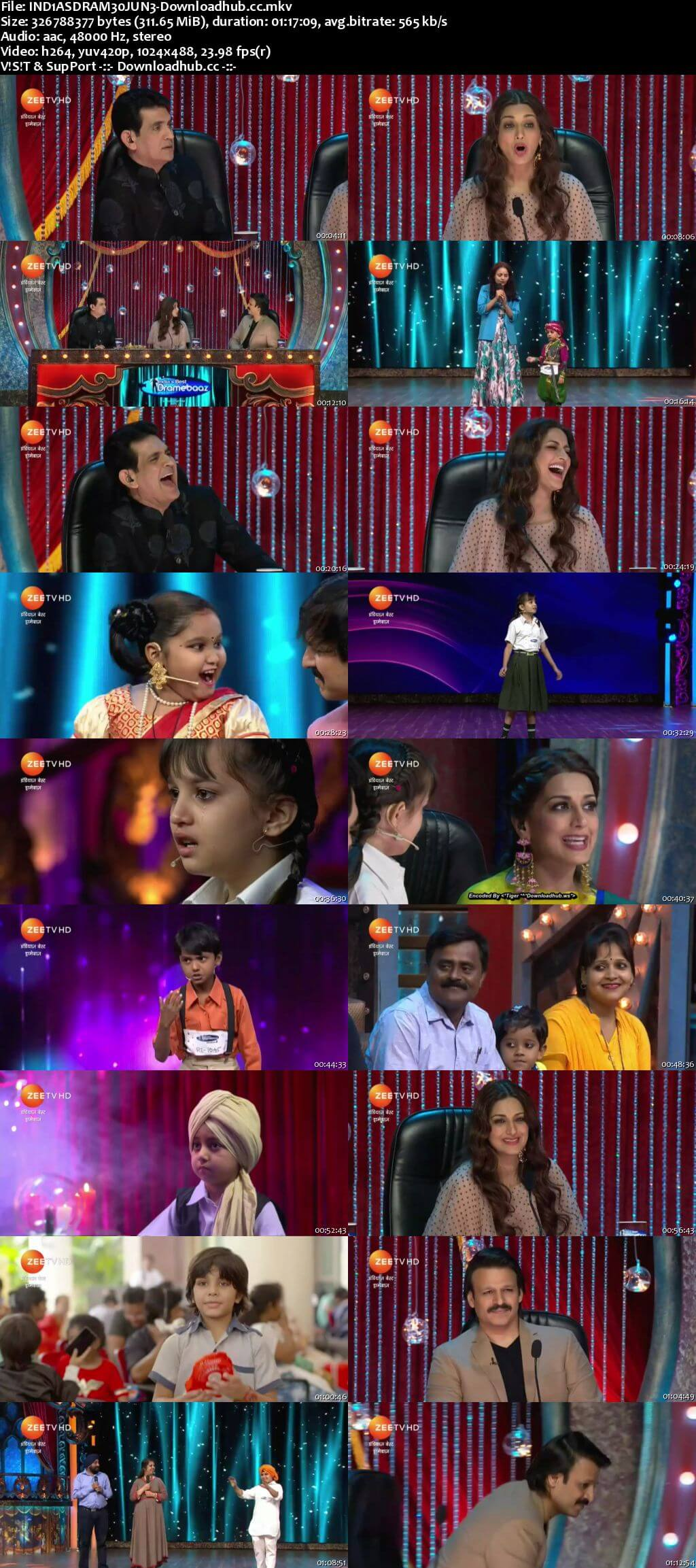 Indias Best Dramebaaz Season 3 30 June 2018 Episode 01 HDTV 480p