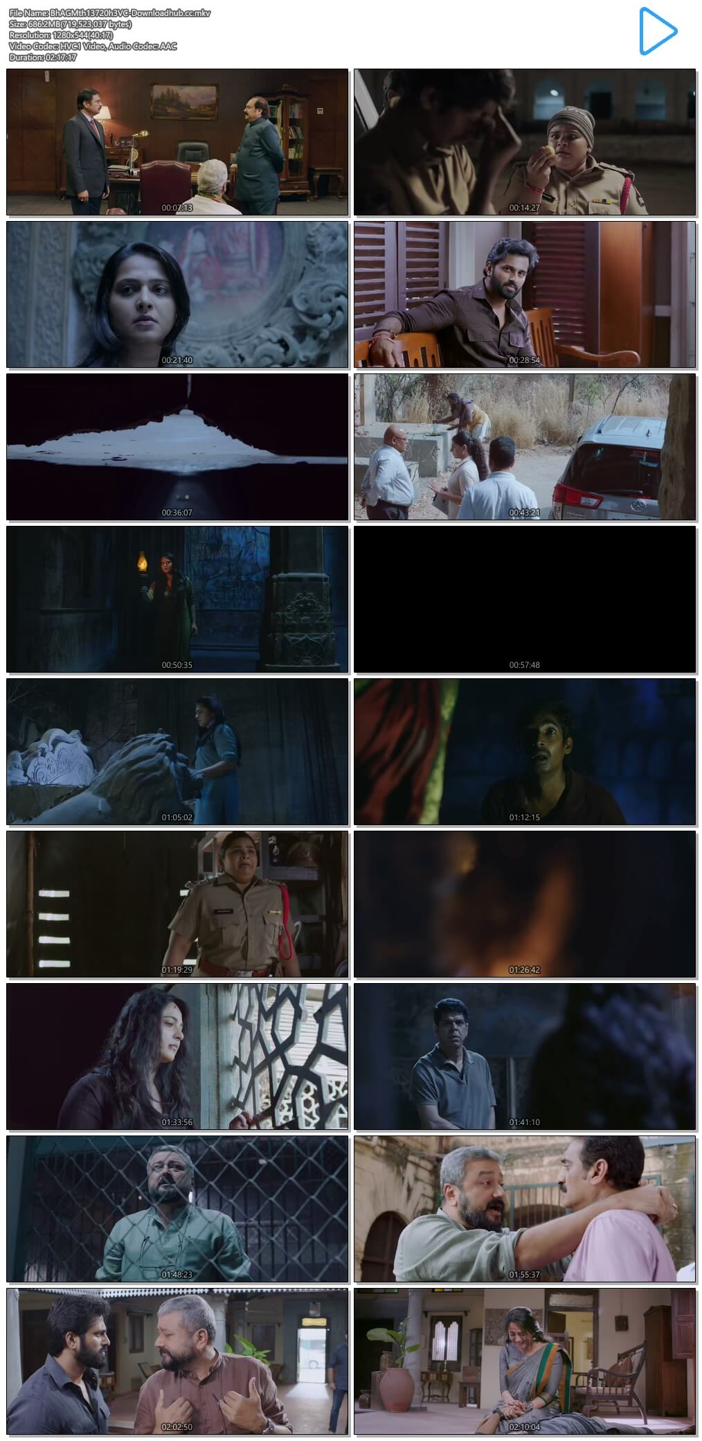 Bhaagamathie 2018 Hindi Dual Audio 650MB UNCUT HDRip 720p ESubs HEVC