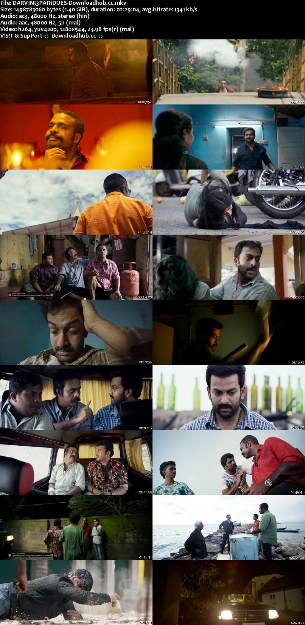 Darvinte Parinamam 2016 Dual Audio 720p UNCUT DVDRip [Hindi - Malayalam] ESubs
