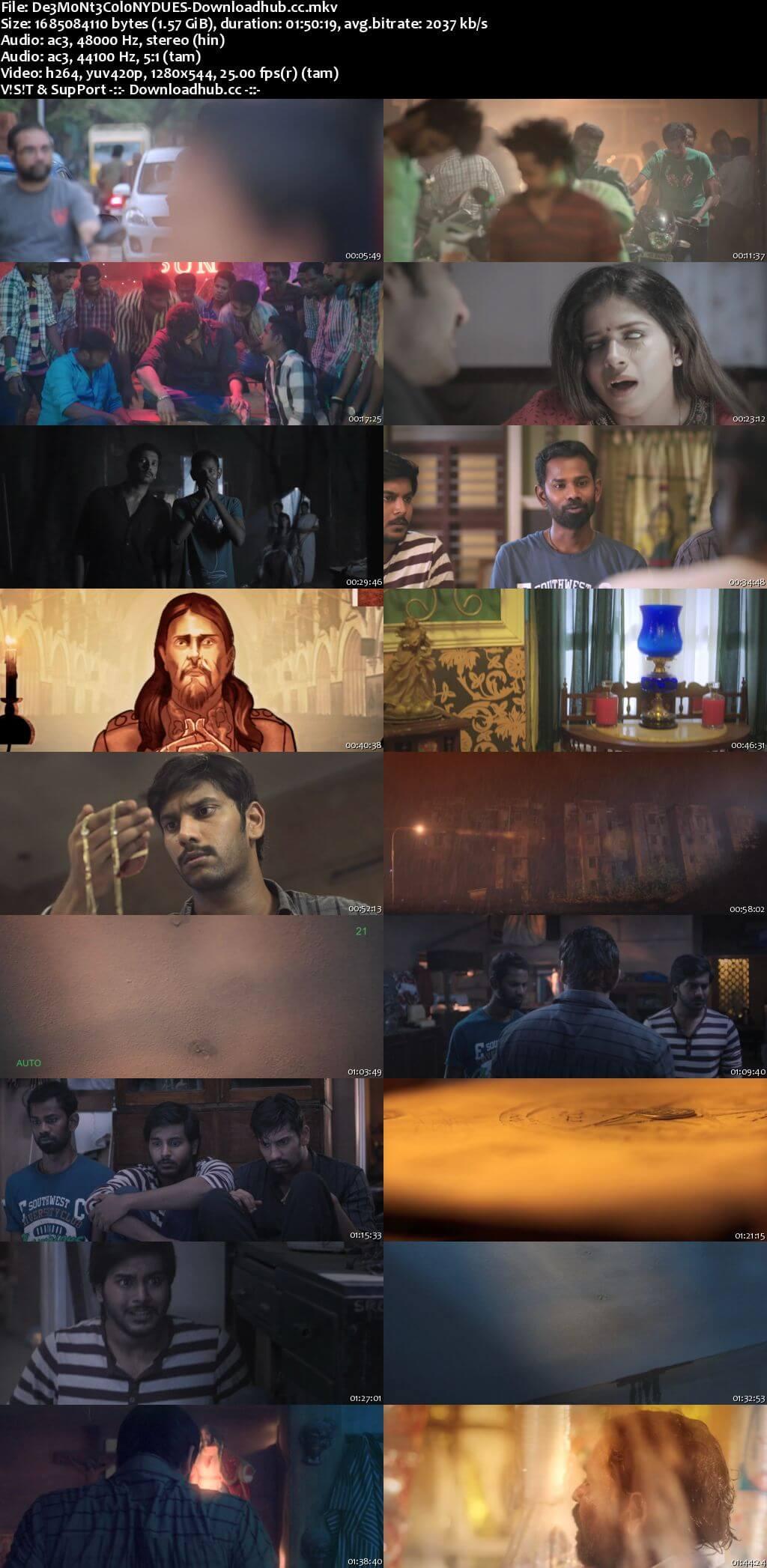 Demonte Colony 2015 Dual Audio 720p UNCUT HDRip [Hindi - Tamil] ESubs