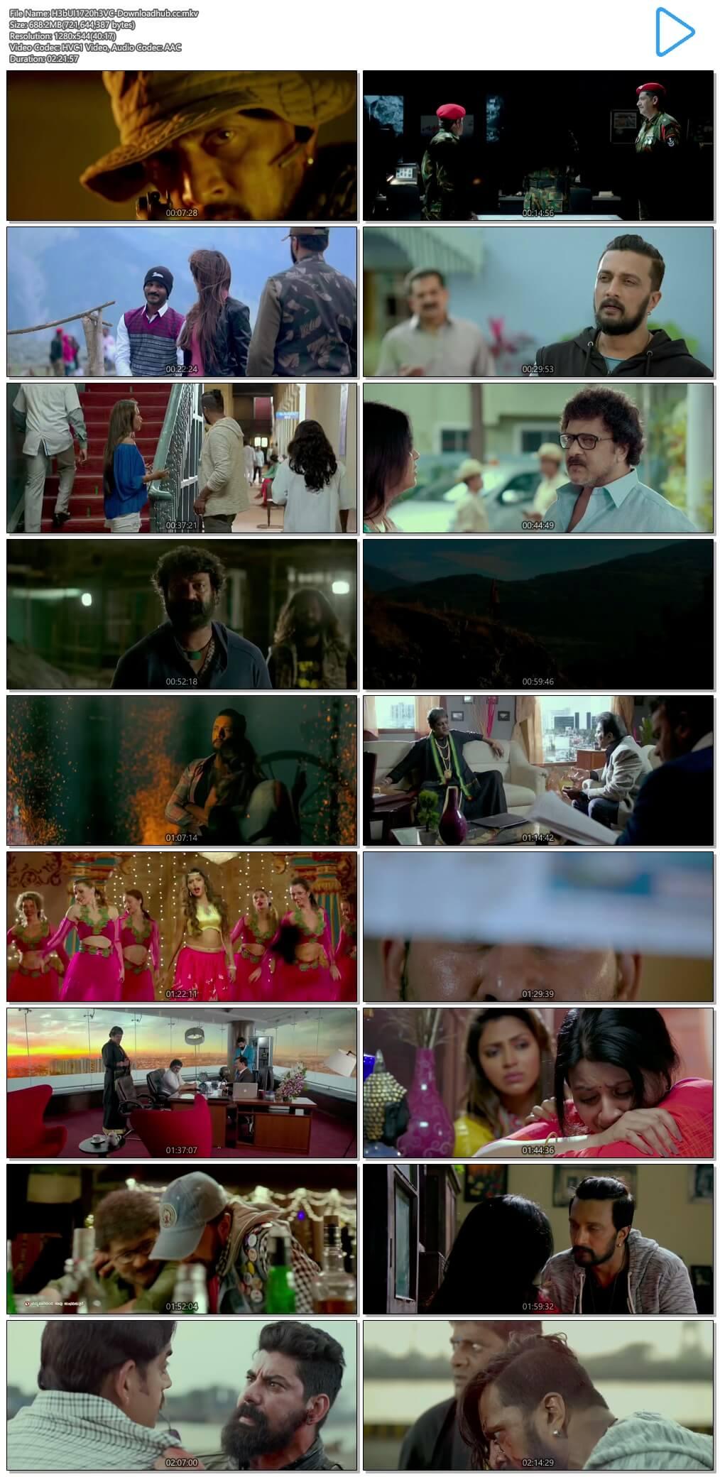 Hebbuli 2017 Hindi Dual Audio 700MB UNCUT HDRip 720p HEVC