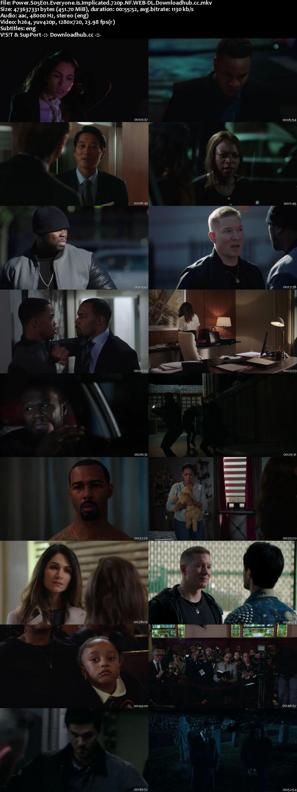 Power S05E01 450MB WEB-DL 720p x264 ESubs