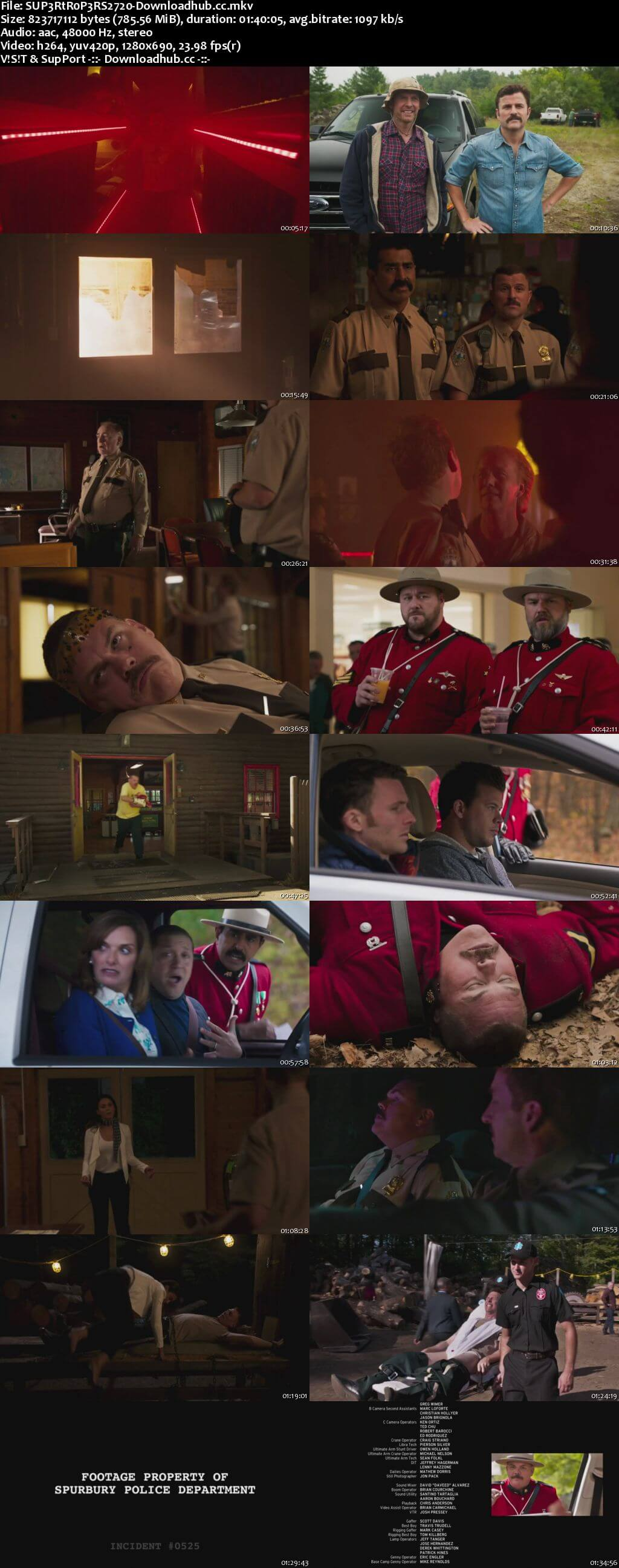 Super Troopers 2 2018 English 720p Web-DL 750MB ESubs