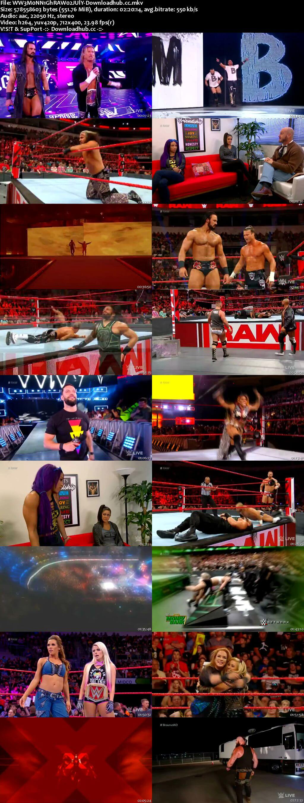 WWE Monday Night Raw 02 July 2018 480p HDTV Download