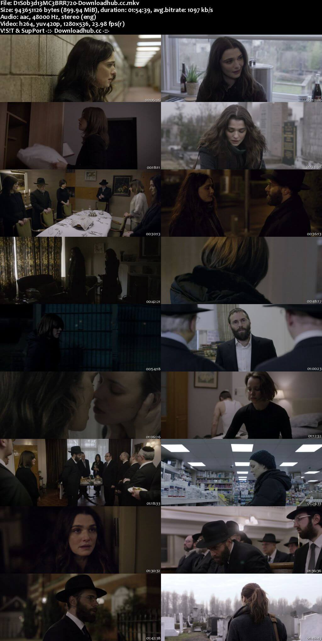 Disobedience 2017 English 720p BRRip 900MB ESubs