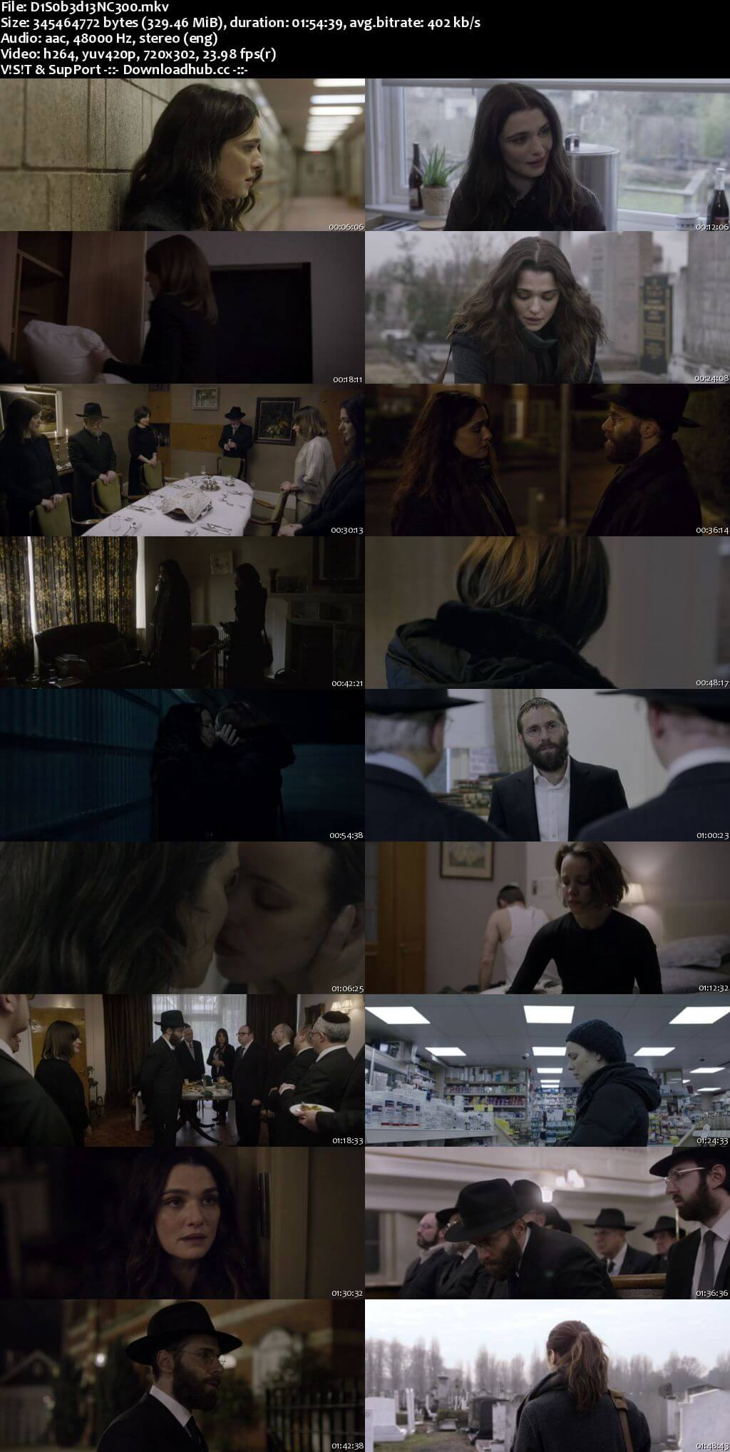 Disobedience 2017 English 300MB BRRip 480p ESubs