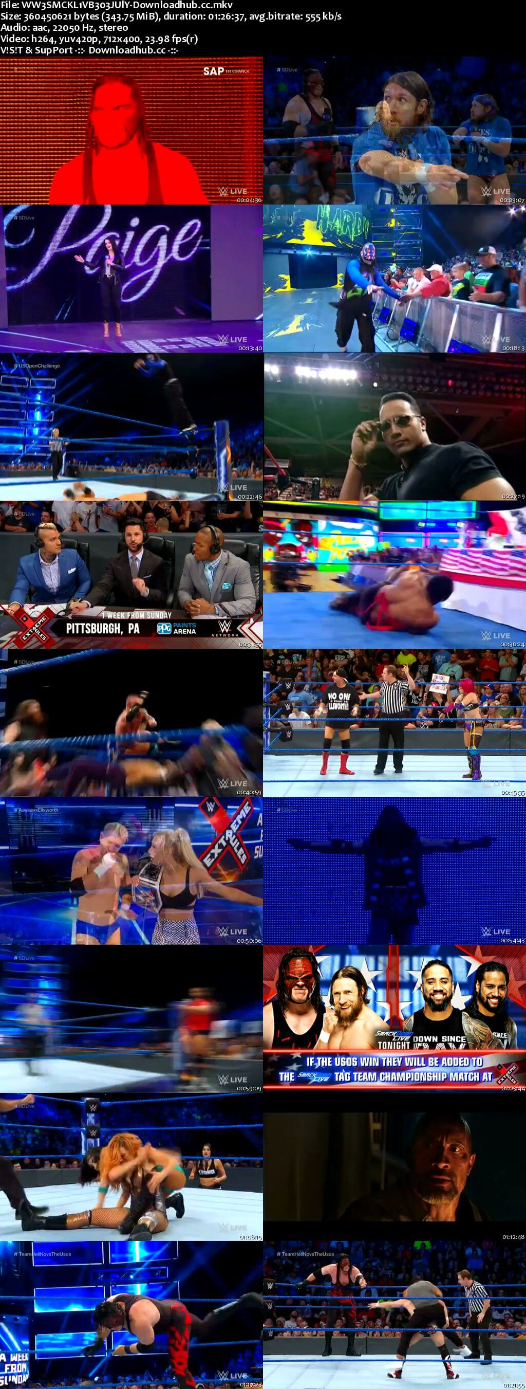 WWE Smackdown Live 03 July 2018 480p HDTV Download