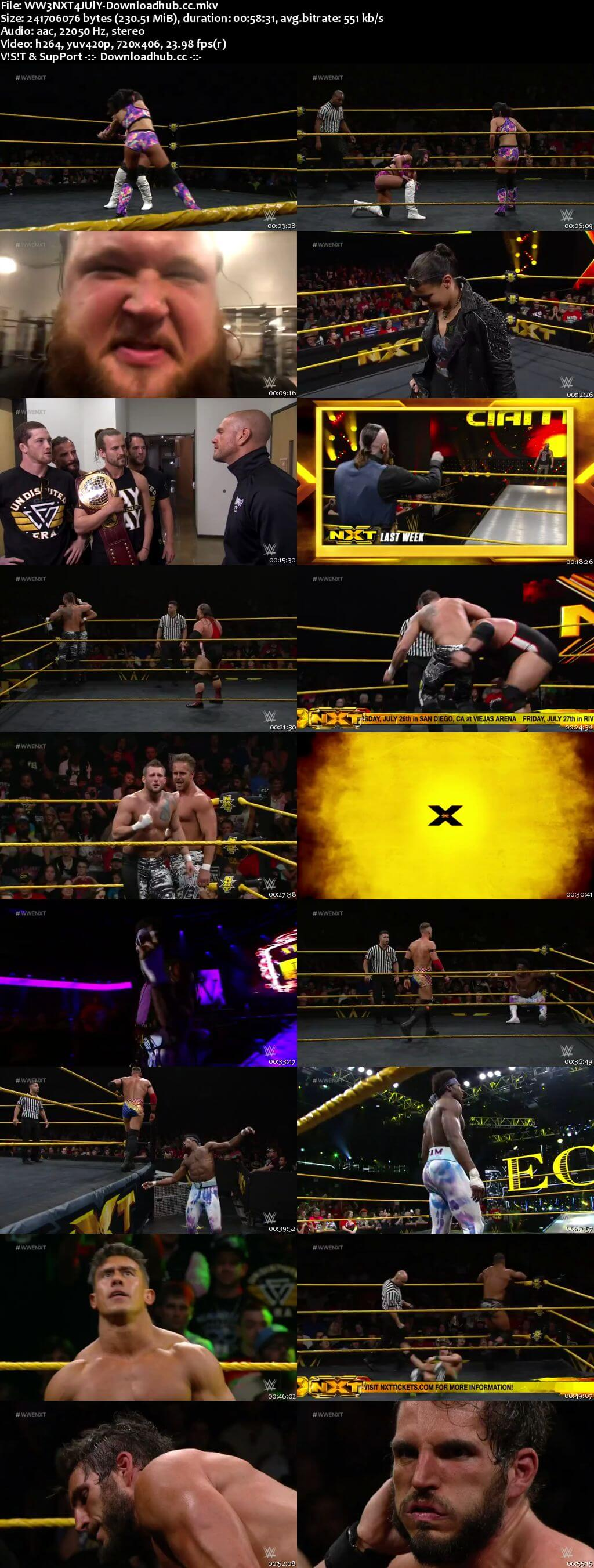 WWE NXT 04 July 2018 480p HDTV Download