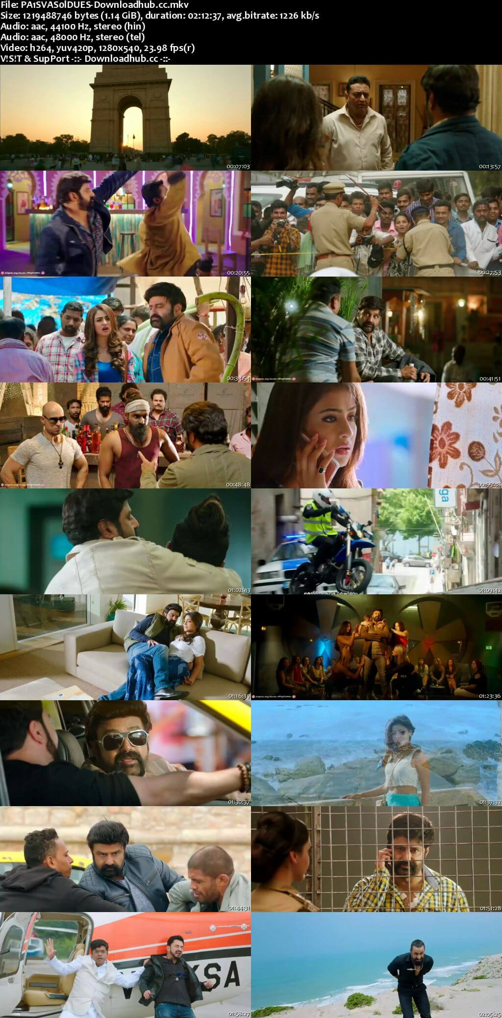 Paisa Vasool 2017 Dual Audio 720p UNCUT HDRip [Hindi (Cleaned) - Telugu]
