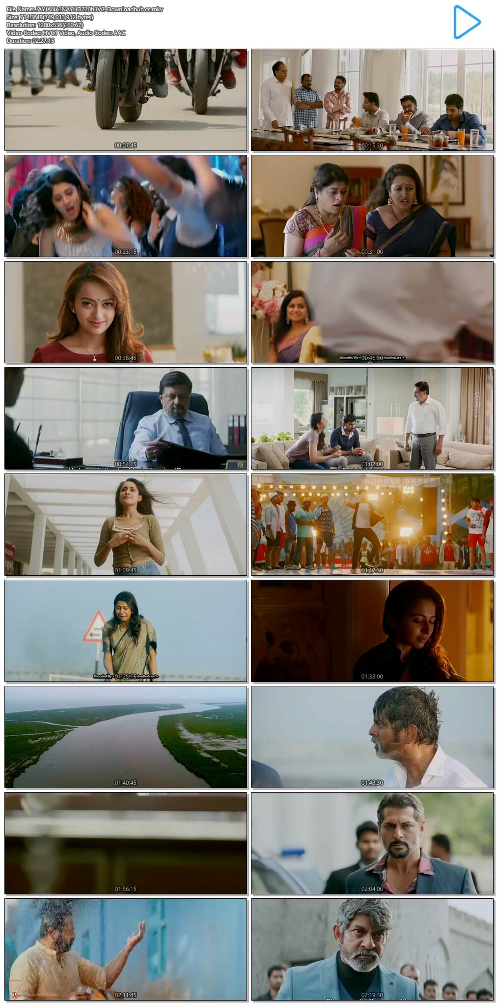 Jaya Janaki Nayaka 2017 Hindi Dual Audio 700MB UNCUT HDRip 720p HEVC