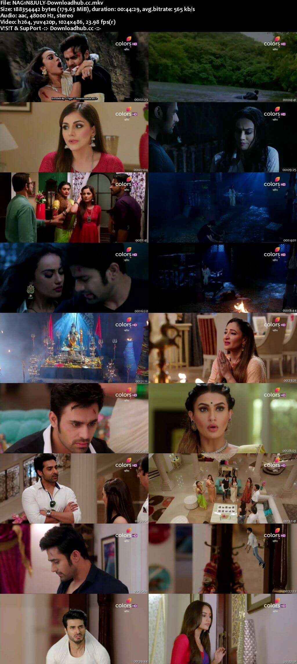 Naagin Season 3 08 July 2018 Episode 12 HDTV 480p