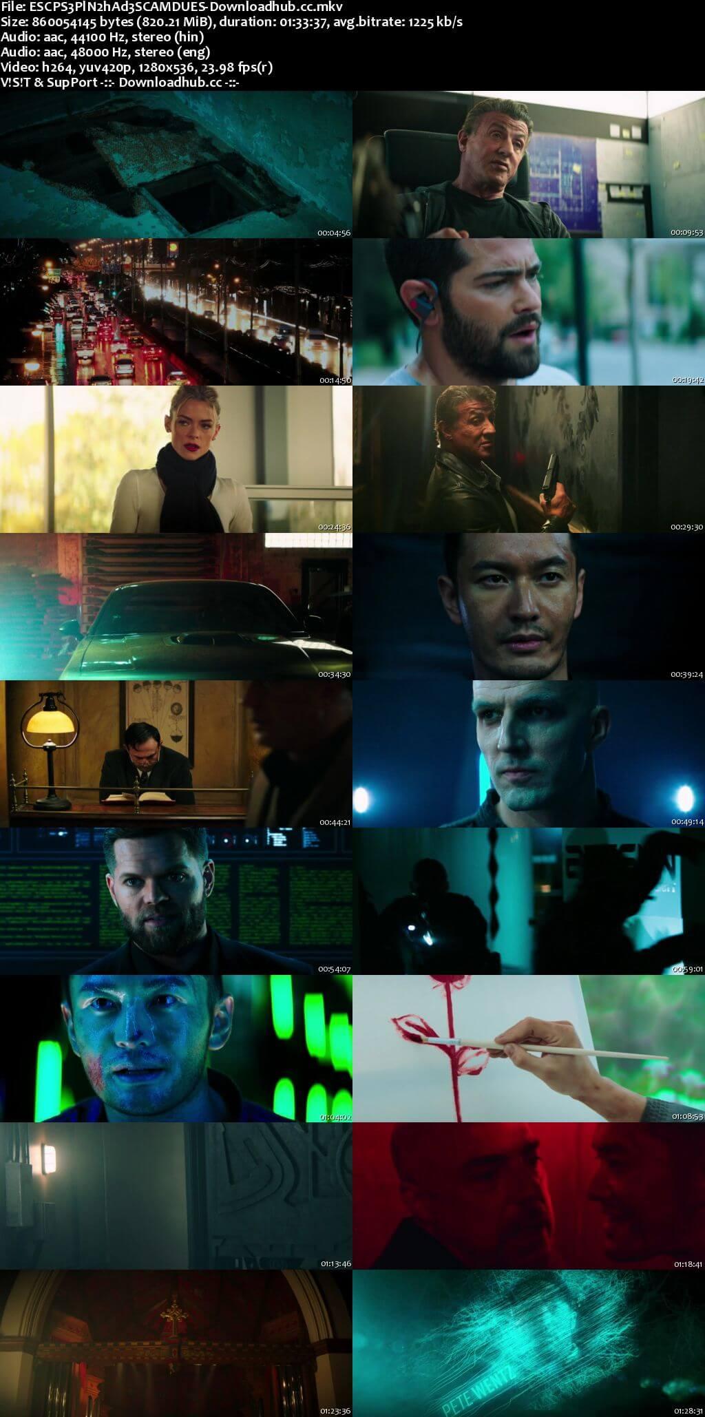 Escape Plan 2 Hades 2018 Dual Audio 720p BluRay [Hindi (Cleaned) - English] ESubs