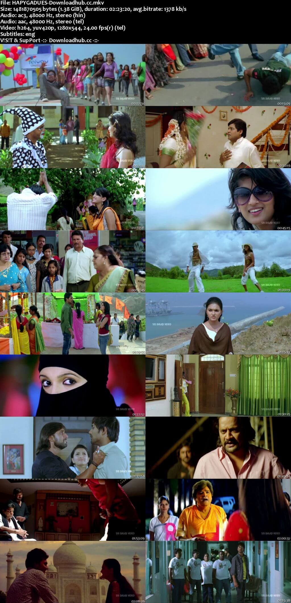 Happy Happy Ga 2010 Dual Audio 720p UNCUT HDRip [Hindi - Telugu]