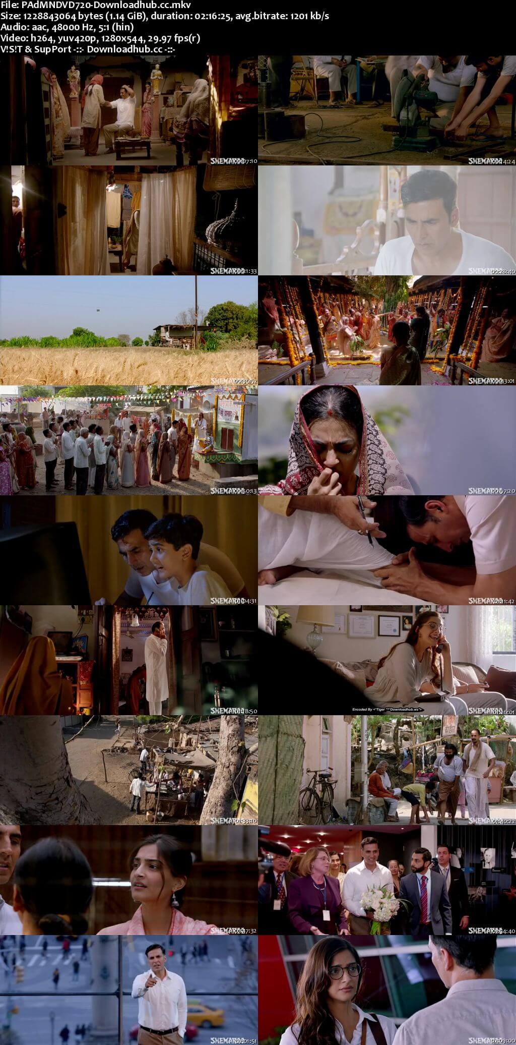 Padman 2018 Hindi 720p DVDRip ESubs
