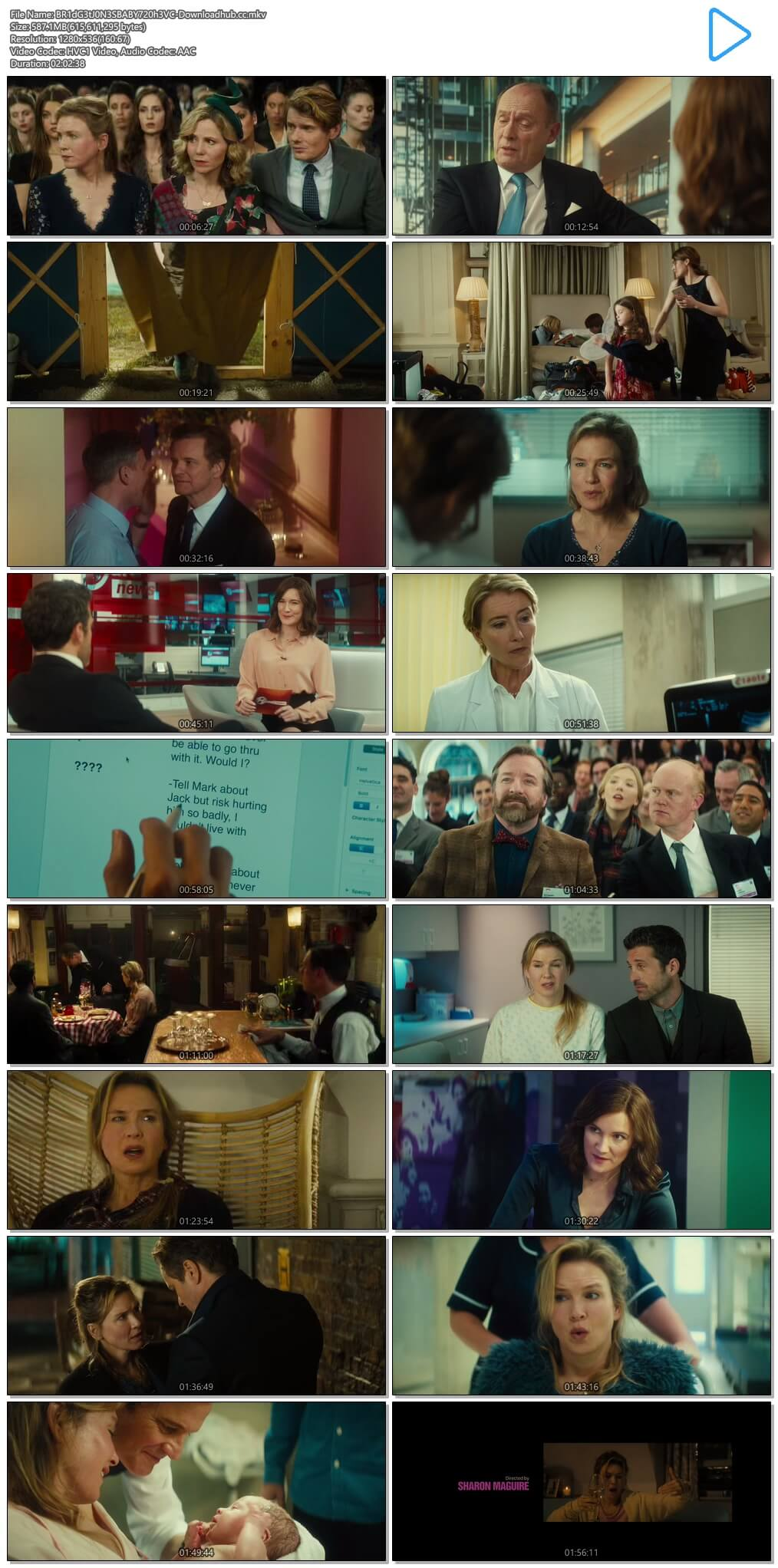 Bridget Joness Baby 2016 Hindi Dual Audio 550MB BluRay 720p ESubs HEVC