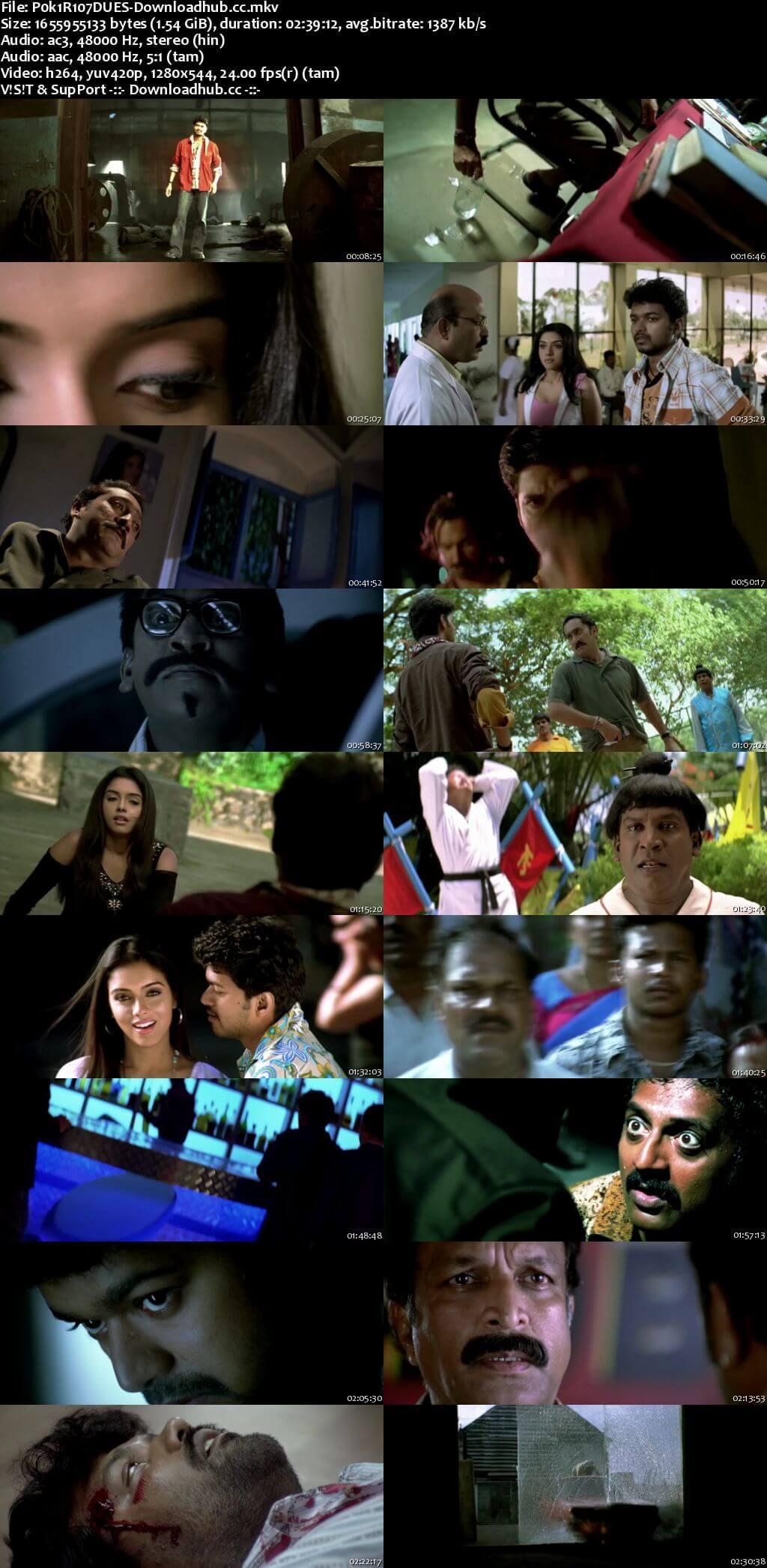 Pokkiri 2007 Dual Audio 720p UNCUT HDRip [Hindi - Tamil] ESubs