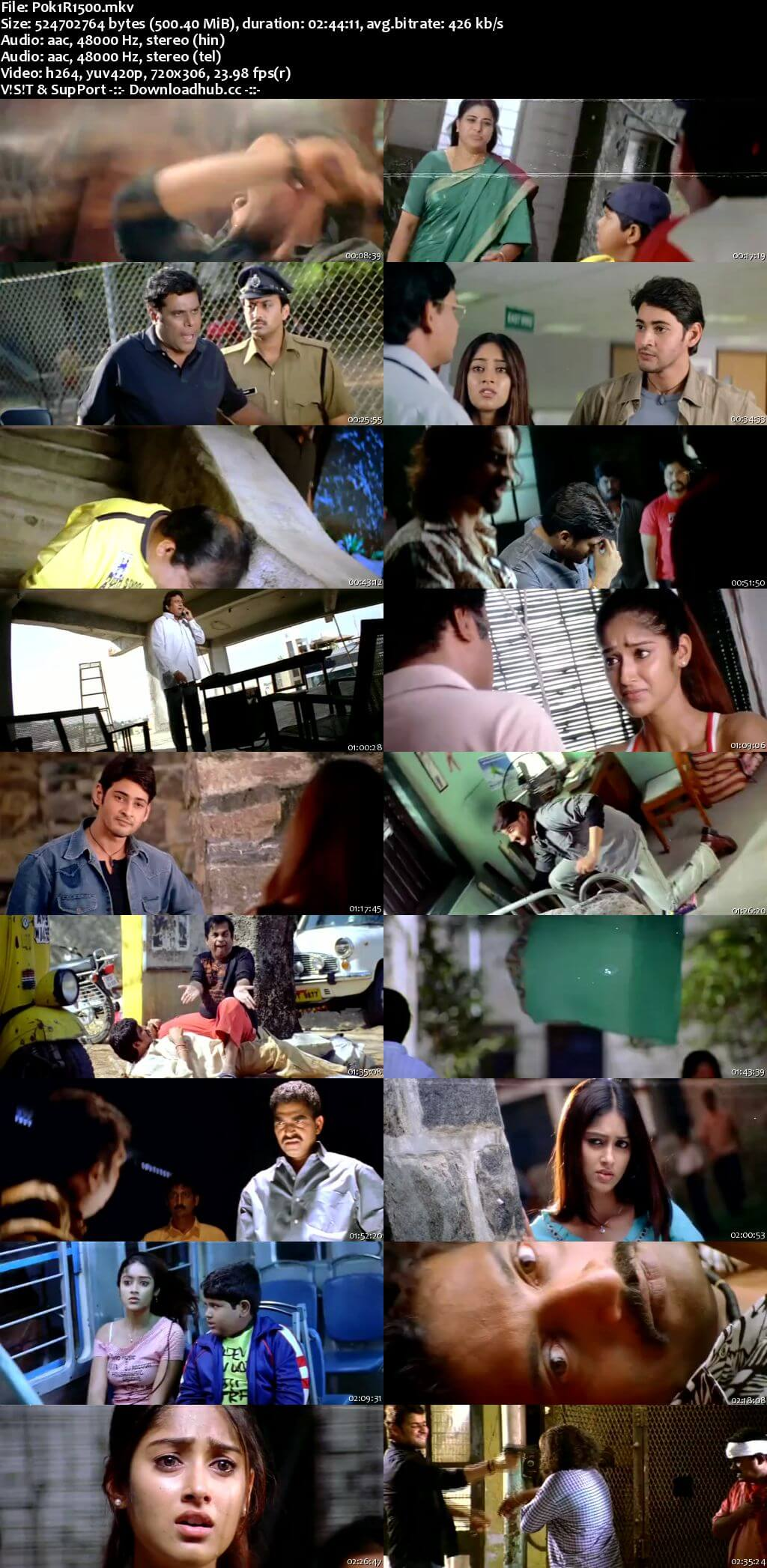 Pokiri 2006 Hindi Dual Audio 500MB UNCUT HDRip 480p ESubs