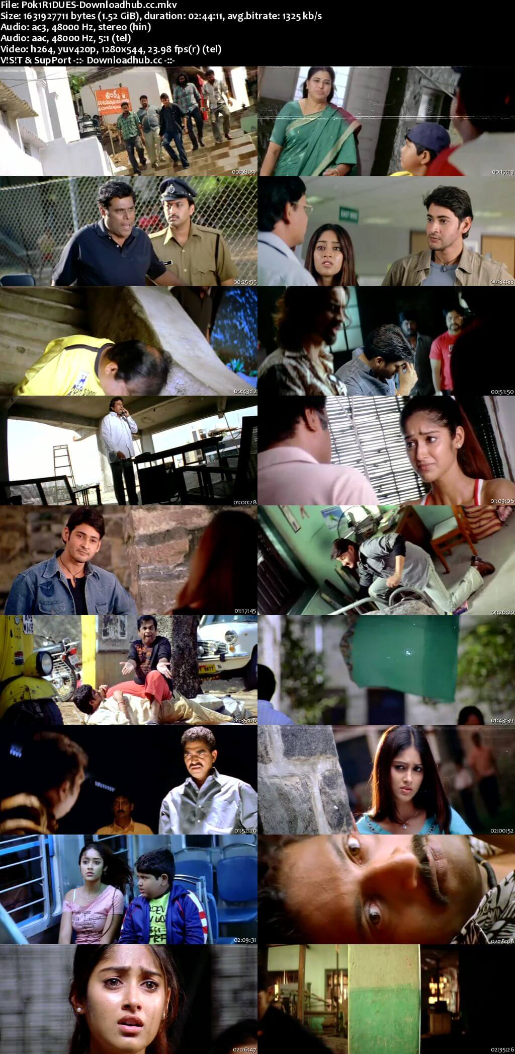 Pokiri 2006 Dual Audio 720p UNCUT HDRip [Hindi - Telugu] ESubs