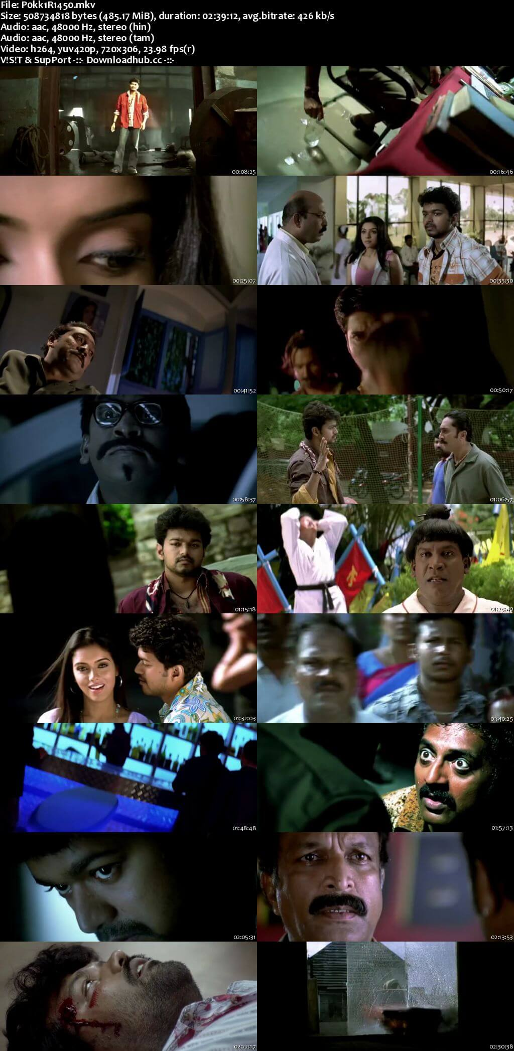 Pokkiri 2007 Hindi Dual Audio 450MB UNCUT HDRip 480p ESubs