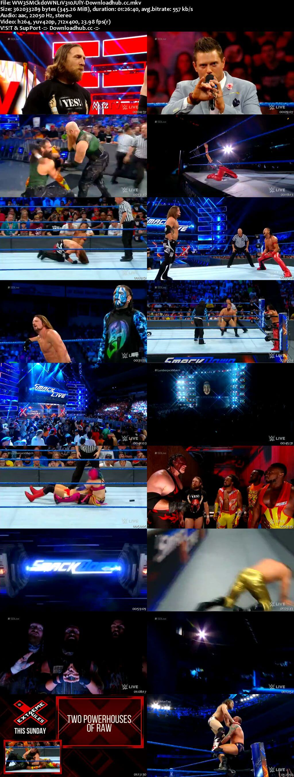 WWE Smackdown Live 10 July 2018 480p HDTV Download