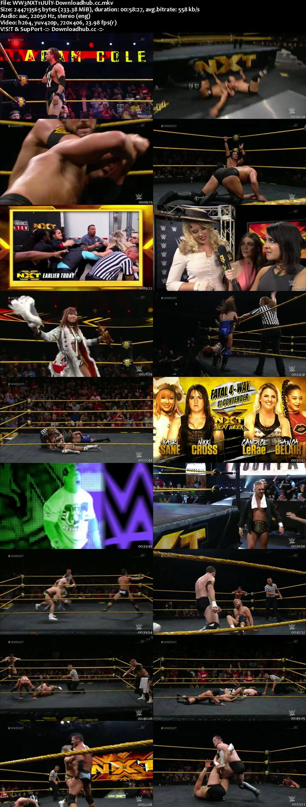WWE NXT 11 July 2018 480p HDTV Download