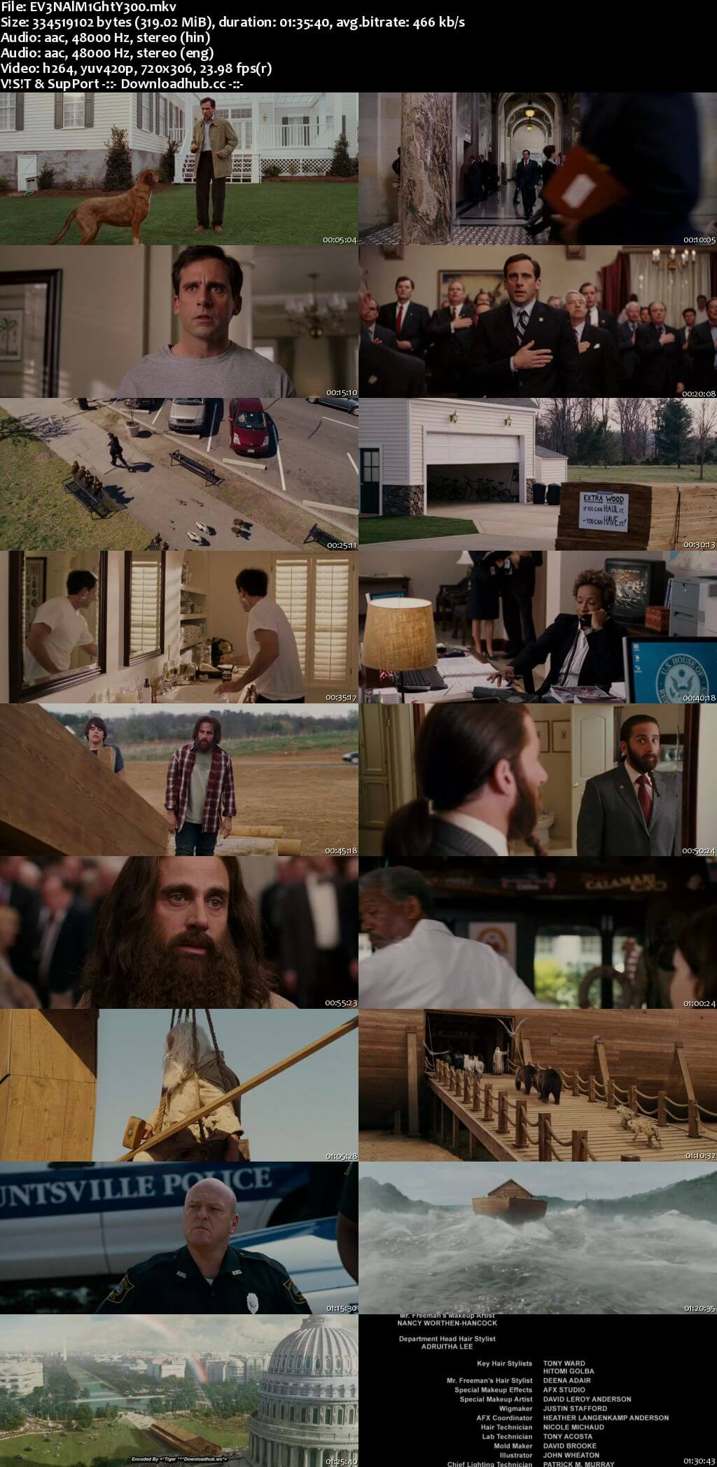 Evan Almighty 2007 Hindi Dual Audio 300MB BluRay 480p ESubs