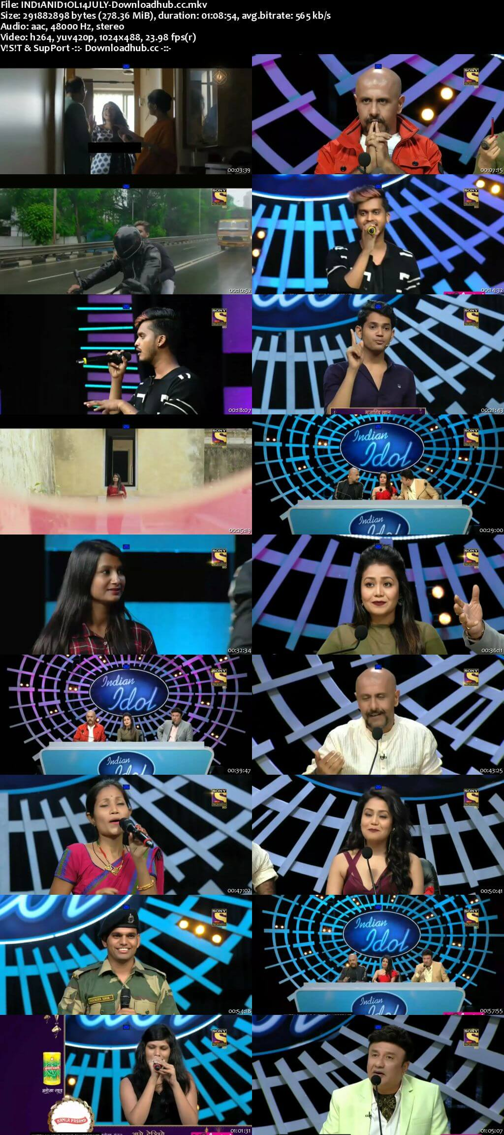 Indian Idol 14 July 2018 Episode 03 HDTV 480p