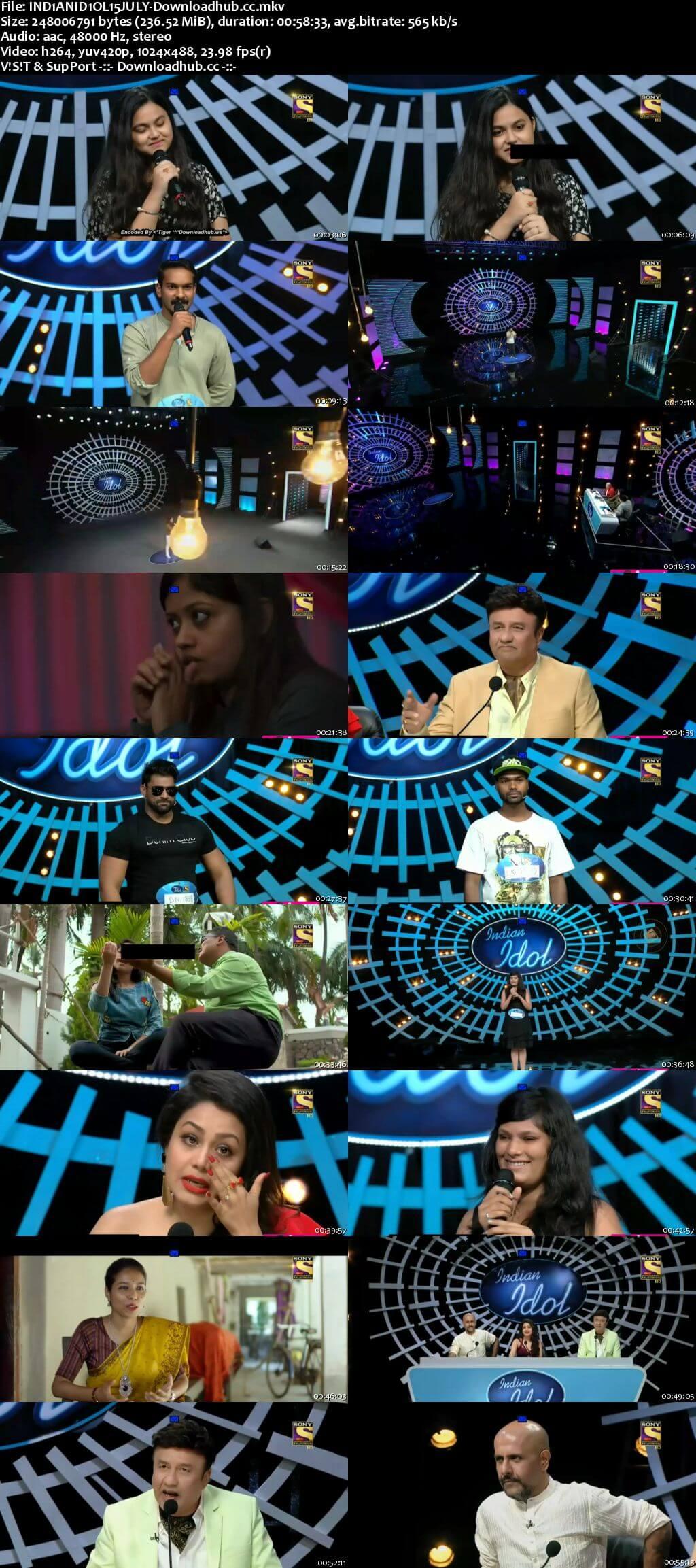 Indian Idol 54 July 2018 Episode 04 HDTV 480p