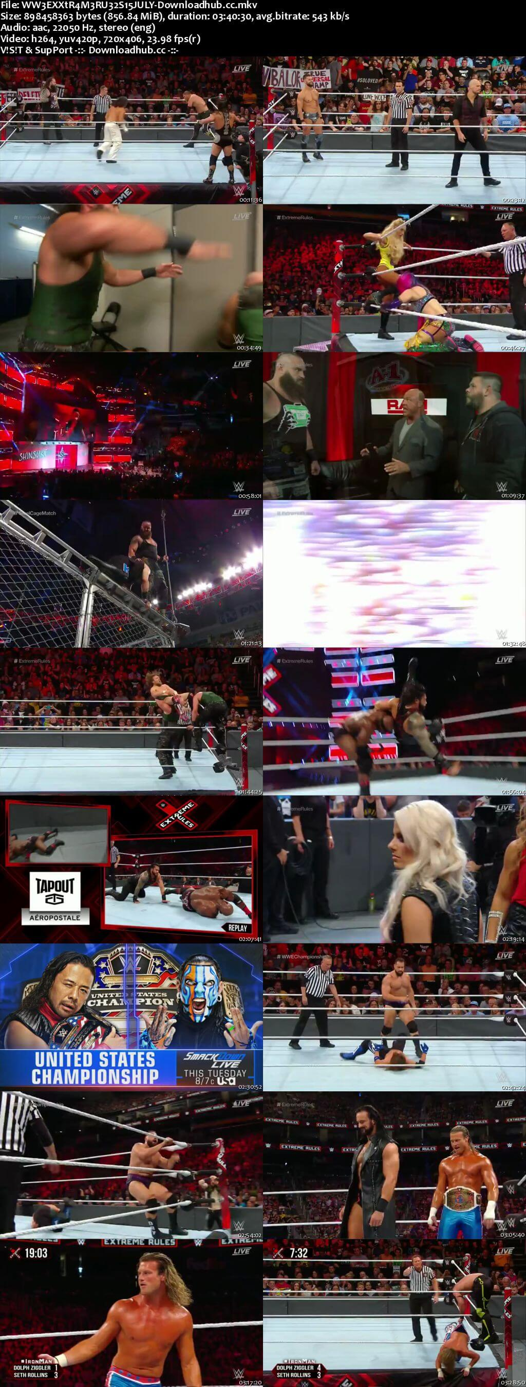 WWE Extreme Rules 15th July 2018 850MB PPV WEBRip 480p