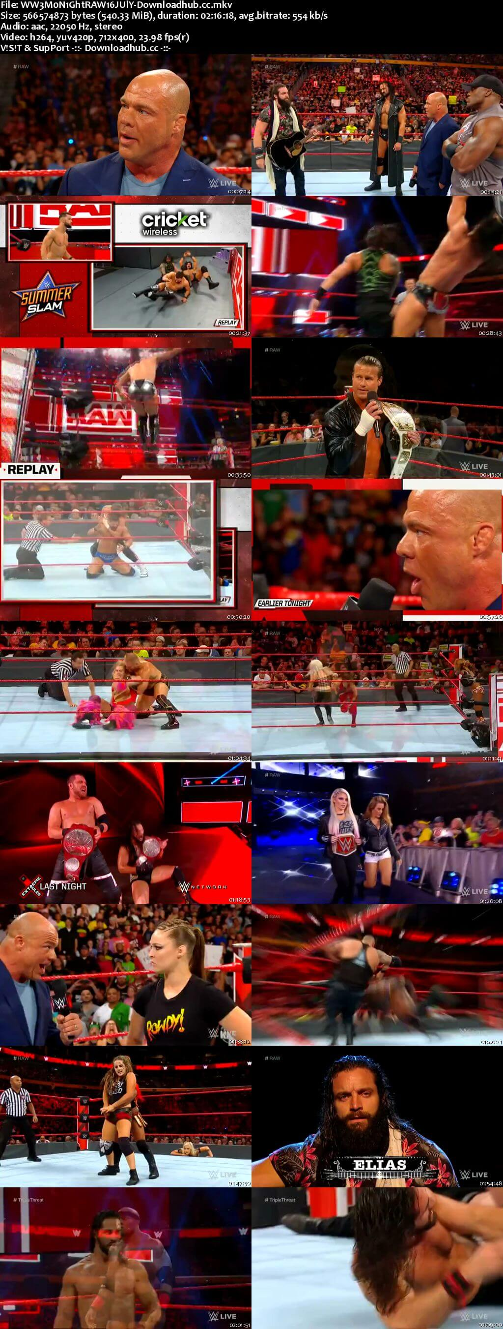 WWE Monday Night Raw 16 July 2018 480p HDTV Download
