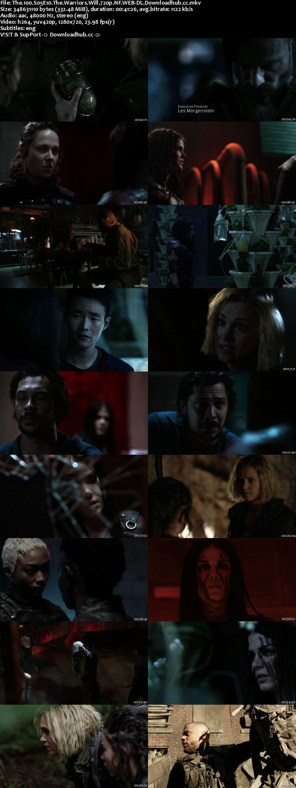 The 100 S05E10 340MB WEB-DL 720p x264 ESubs