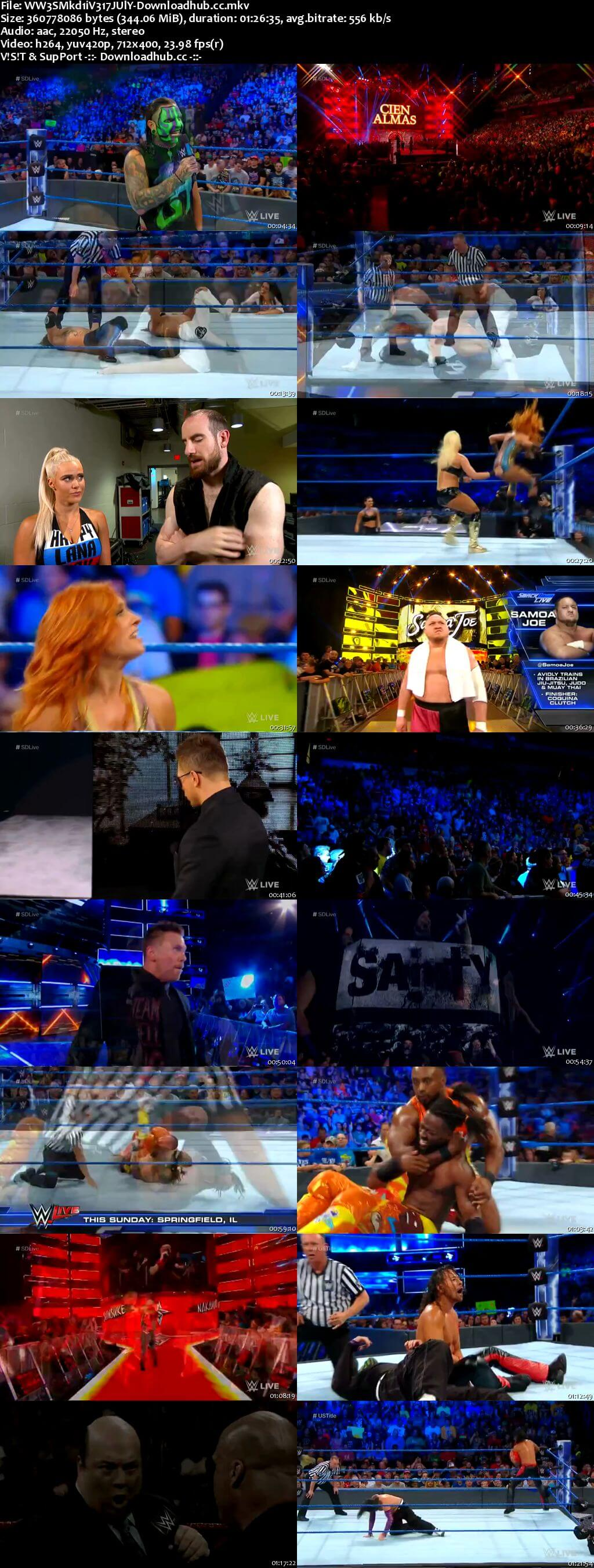 WWE Smackdown Live 17 July 2018 480p HDTV Download