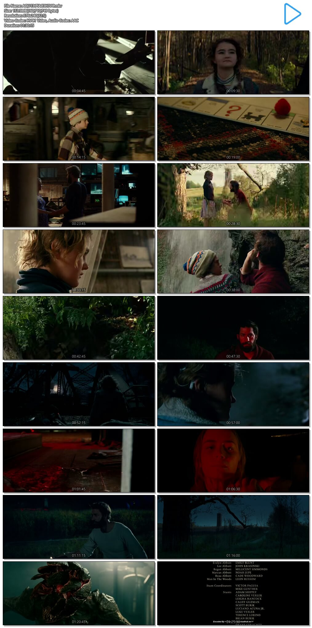A Quiet Place 2018 Hindi Dual Audio 150MB BluRay HEVC Mobile ESubs