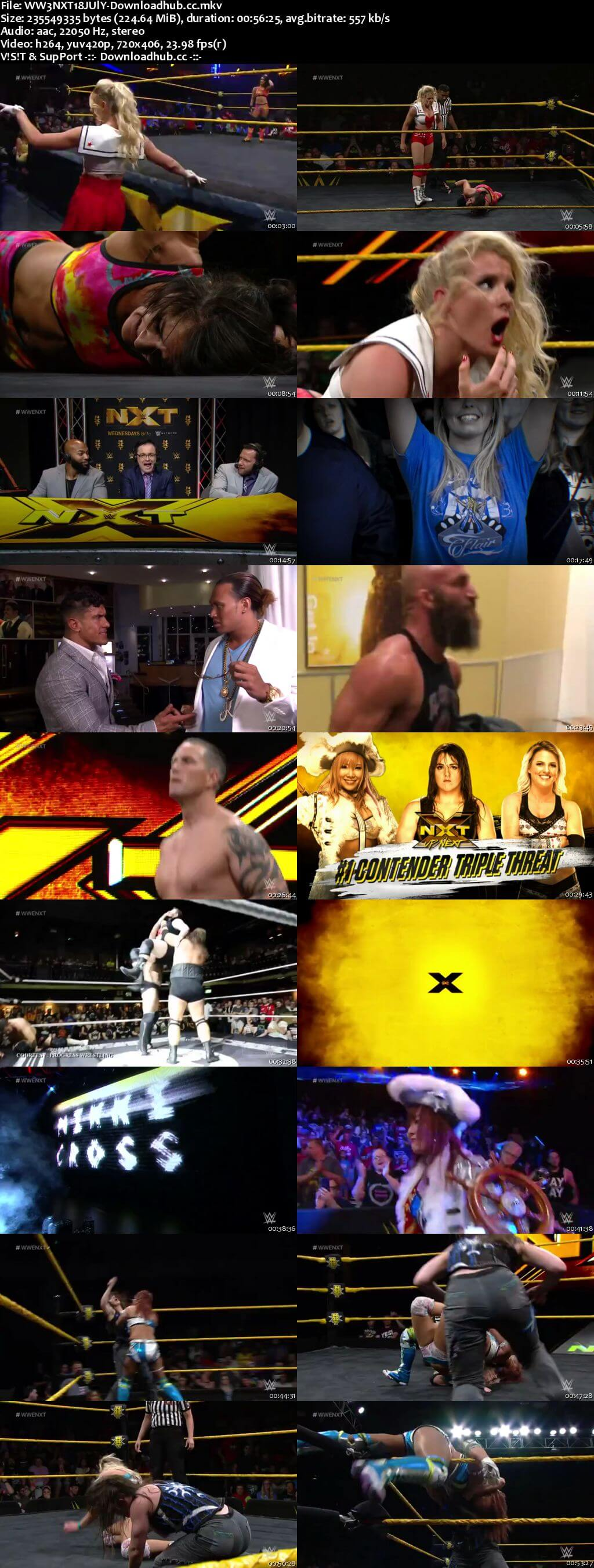 WWE NXT 18 July 2018 480p HDTV Download