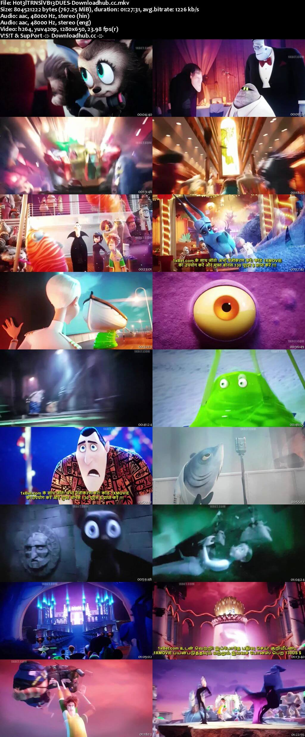 Hotel Transylvania 3 Summer Vacation 2018 Dual Audio 720p HDCAM [Hindi - English]