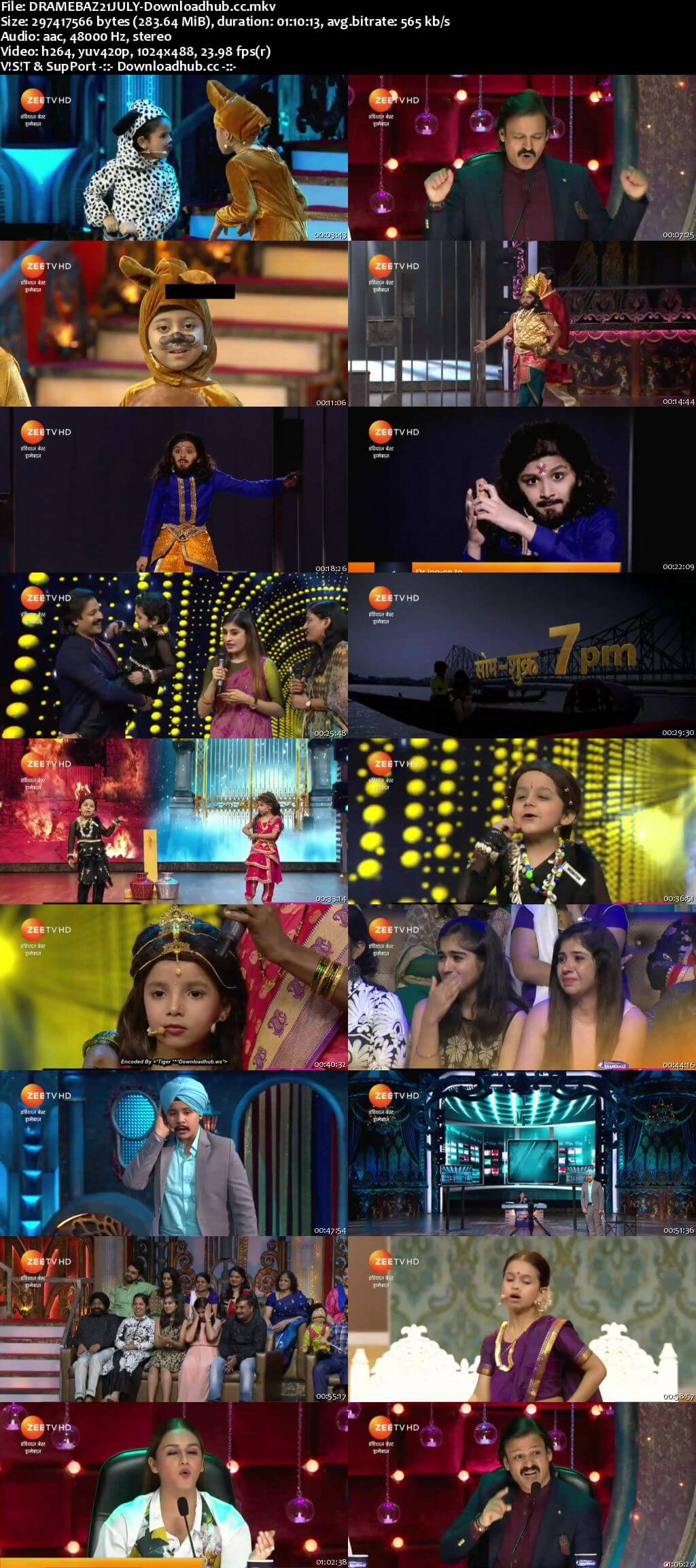 Indias Best Dramebaaz Season 3 21 July 2018 Episode 07 HDTV 480p