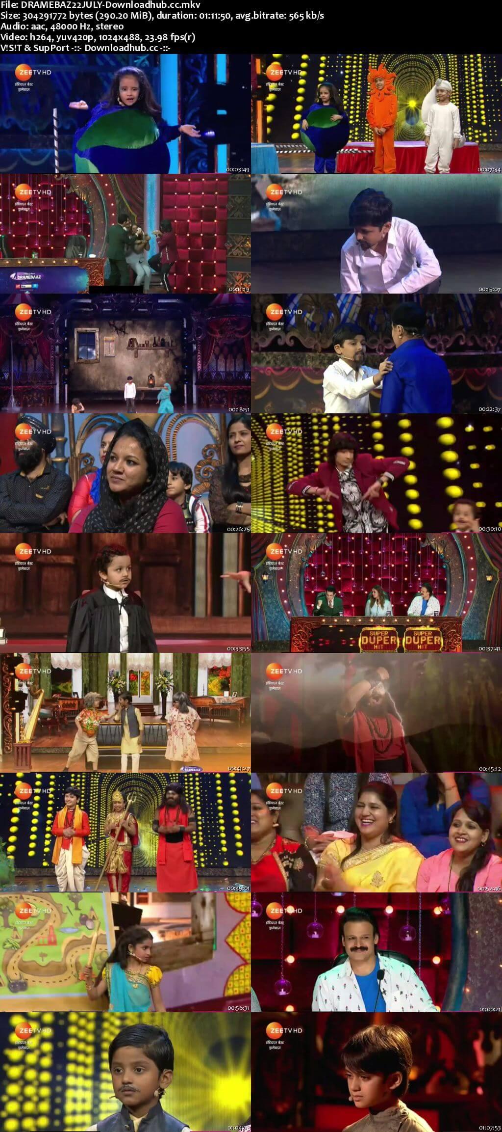 Indias Best Dramebaaz Season 3 22 July 2018 Episode 08 HDTV 480p