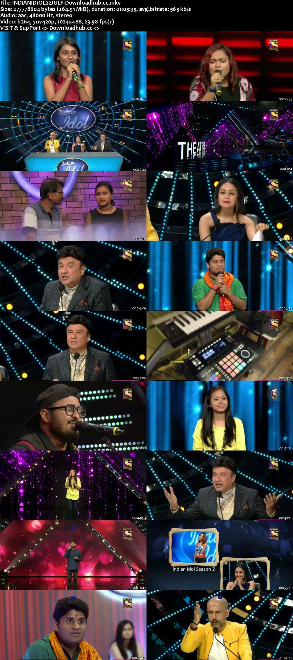 Indian Idol 22 July 2018 Episode 06 HDTV 480p